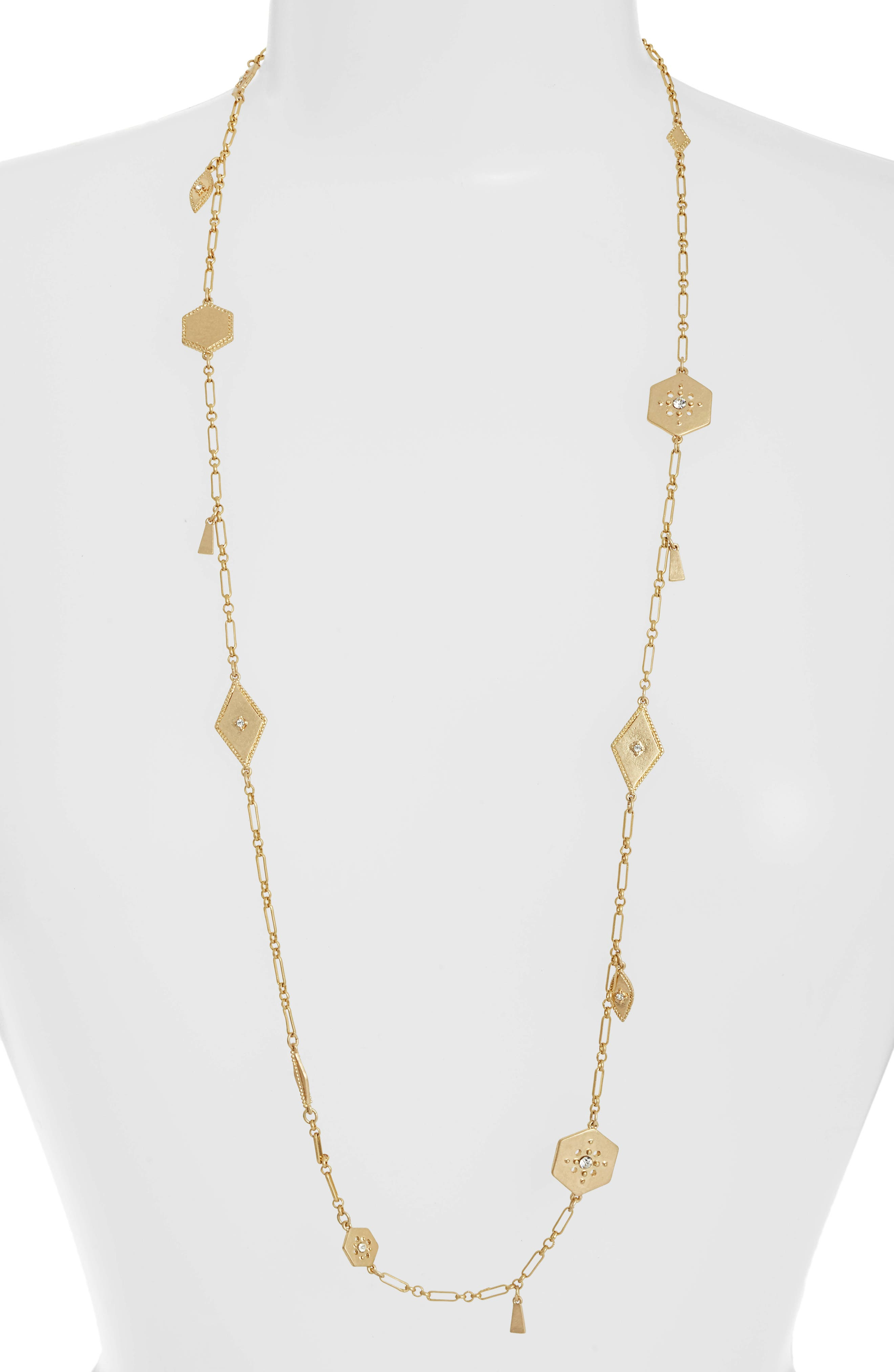 Crystal Plate Station Necklace,                         Main,                         color, 710