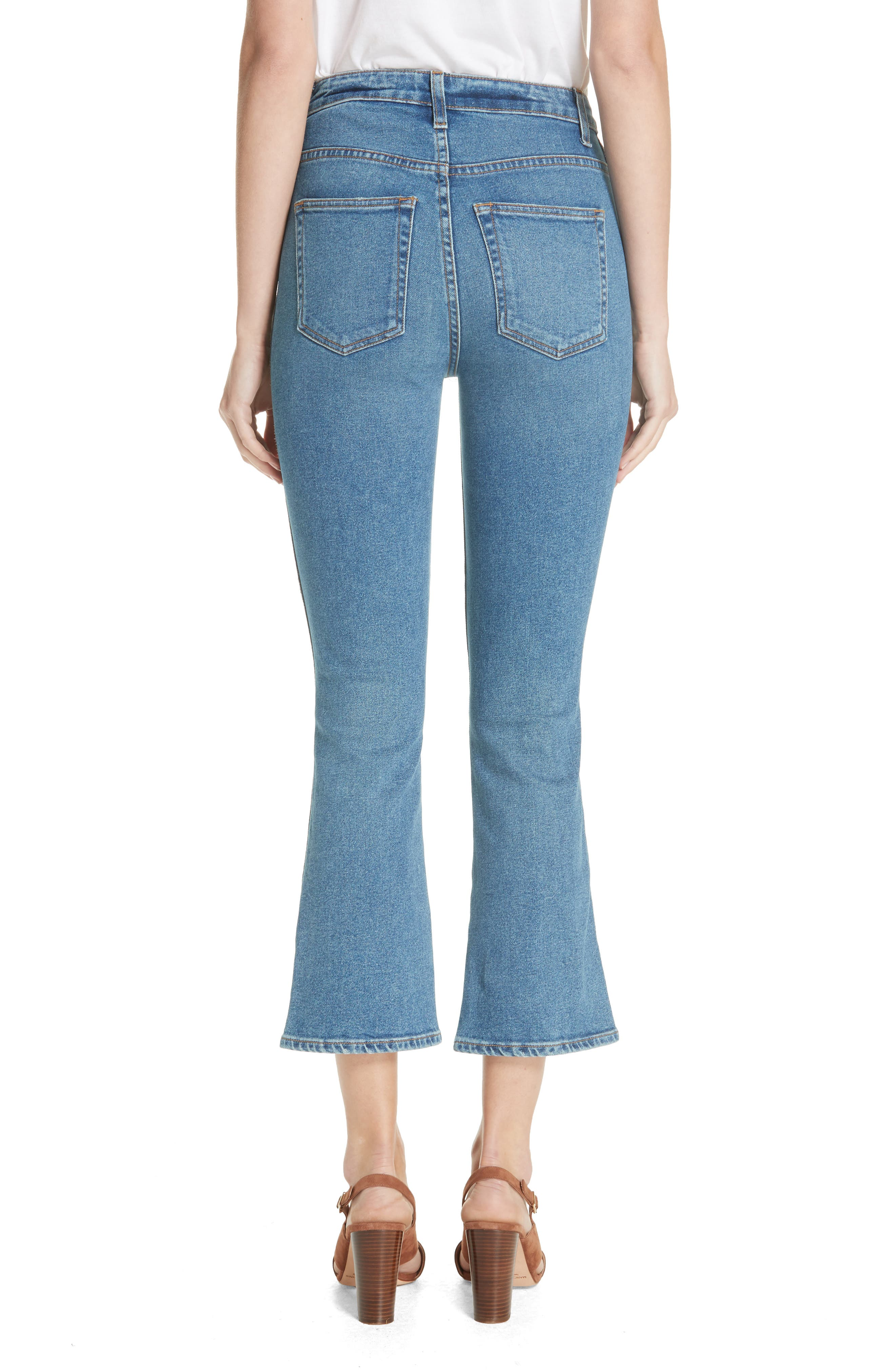 Benny Crop Flare Jeans,                             Alternate thumbnail 2, color,                             VINTAGE WASH