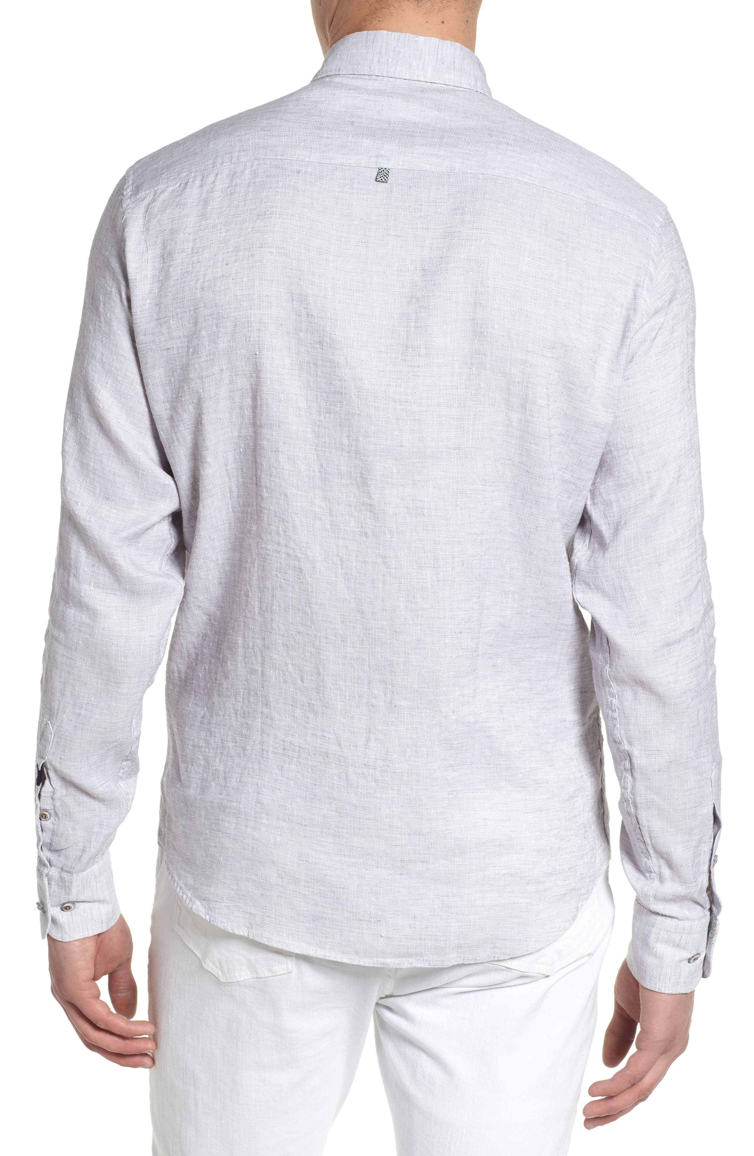 Linen Blend Sport Shirt,                             Alternate thumbnail 4, color,