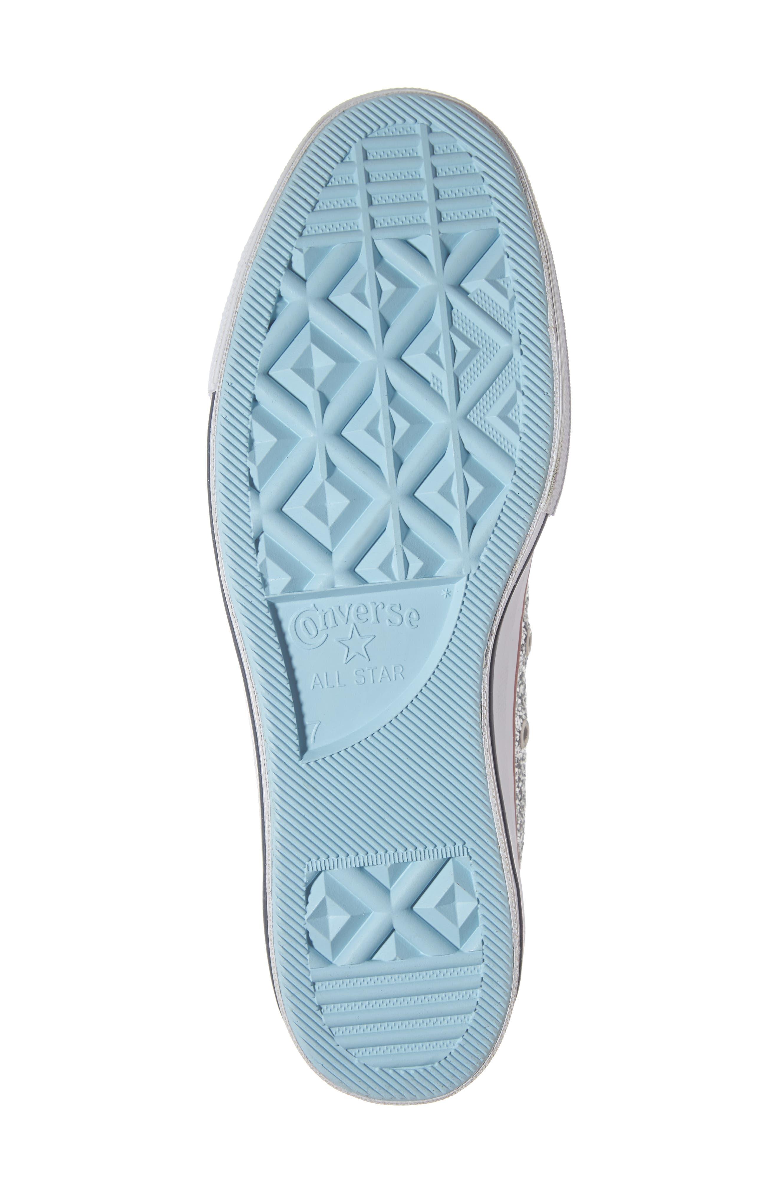 CONVERSE,                             x Chiara Ferragni 70 Hi One Star Glitter Platform Sneaker,                             Alternate thumbnail 6, color,                             040