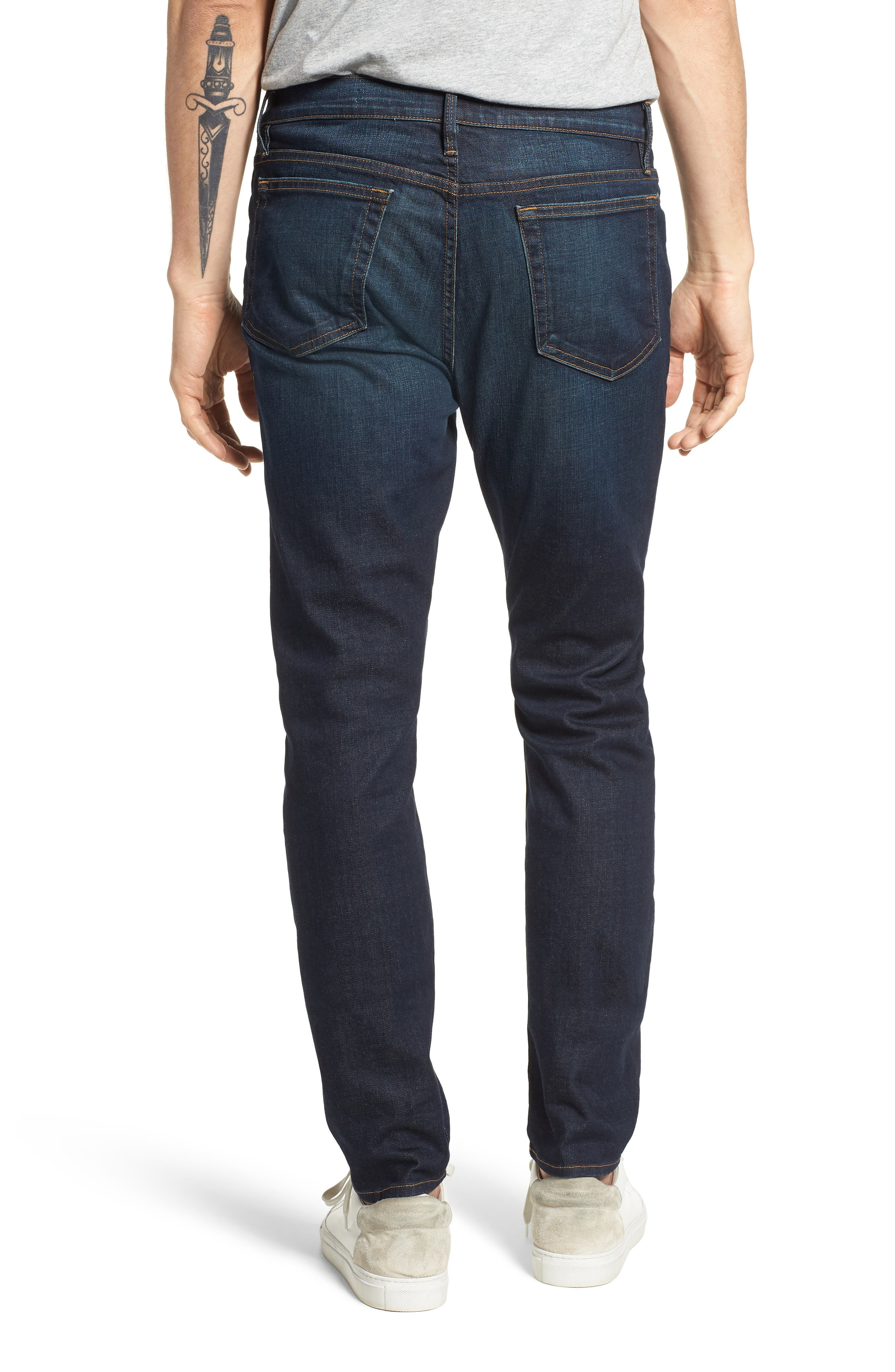 L'Homme Skinny Fit Jeans,                             Alternate thumbnail 3, color,