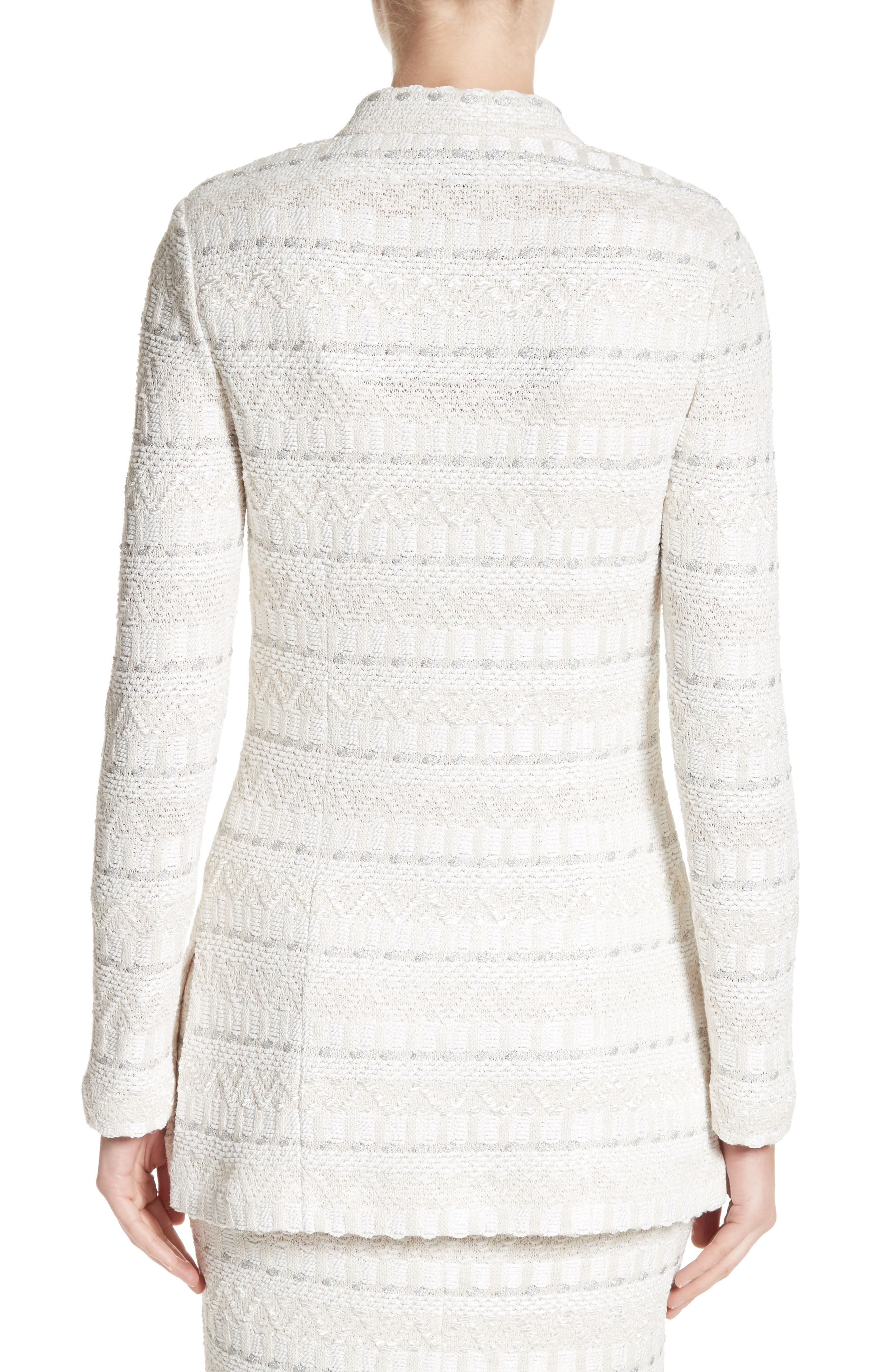 Samar Knit Tweed Jacket,                             Alternate thumbnail 2, color,                             100