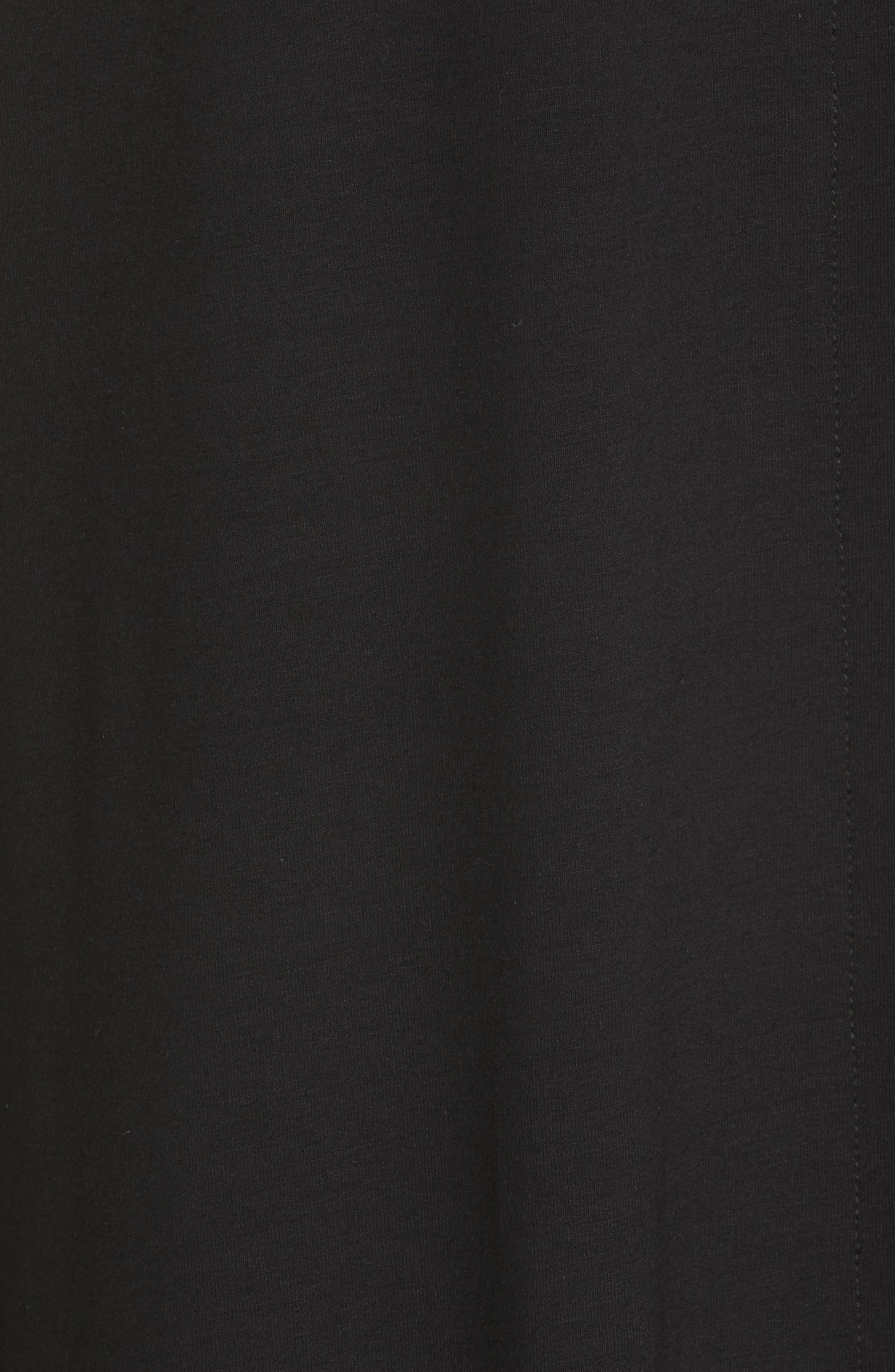 Cutout Jersey Shift Dress,                             Alternate thumbnail 6, color,                             BLACK