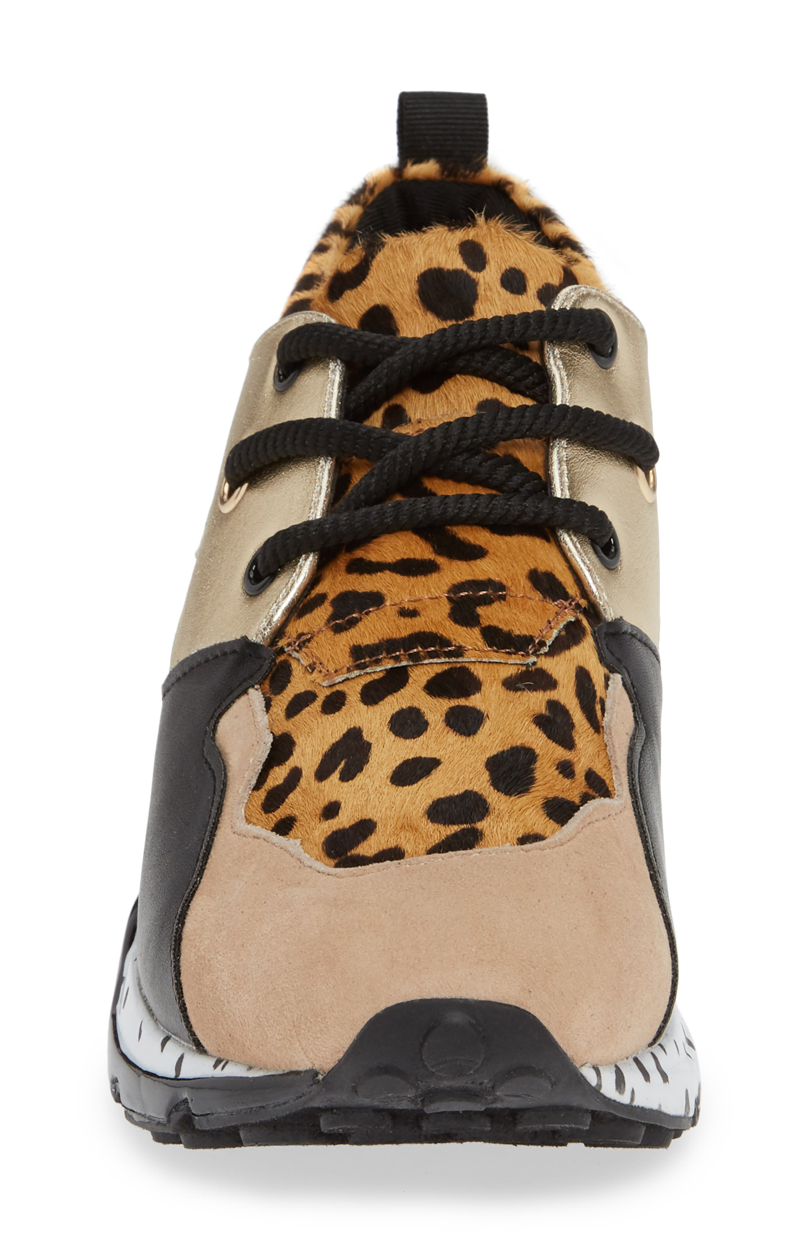 Cliff Genuine Calf Hair Sneaker,                             Alternate thumbnail 4, color,                             ANIMAL PRINT CALF HAIR