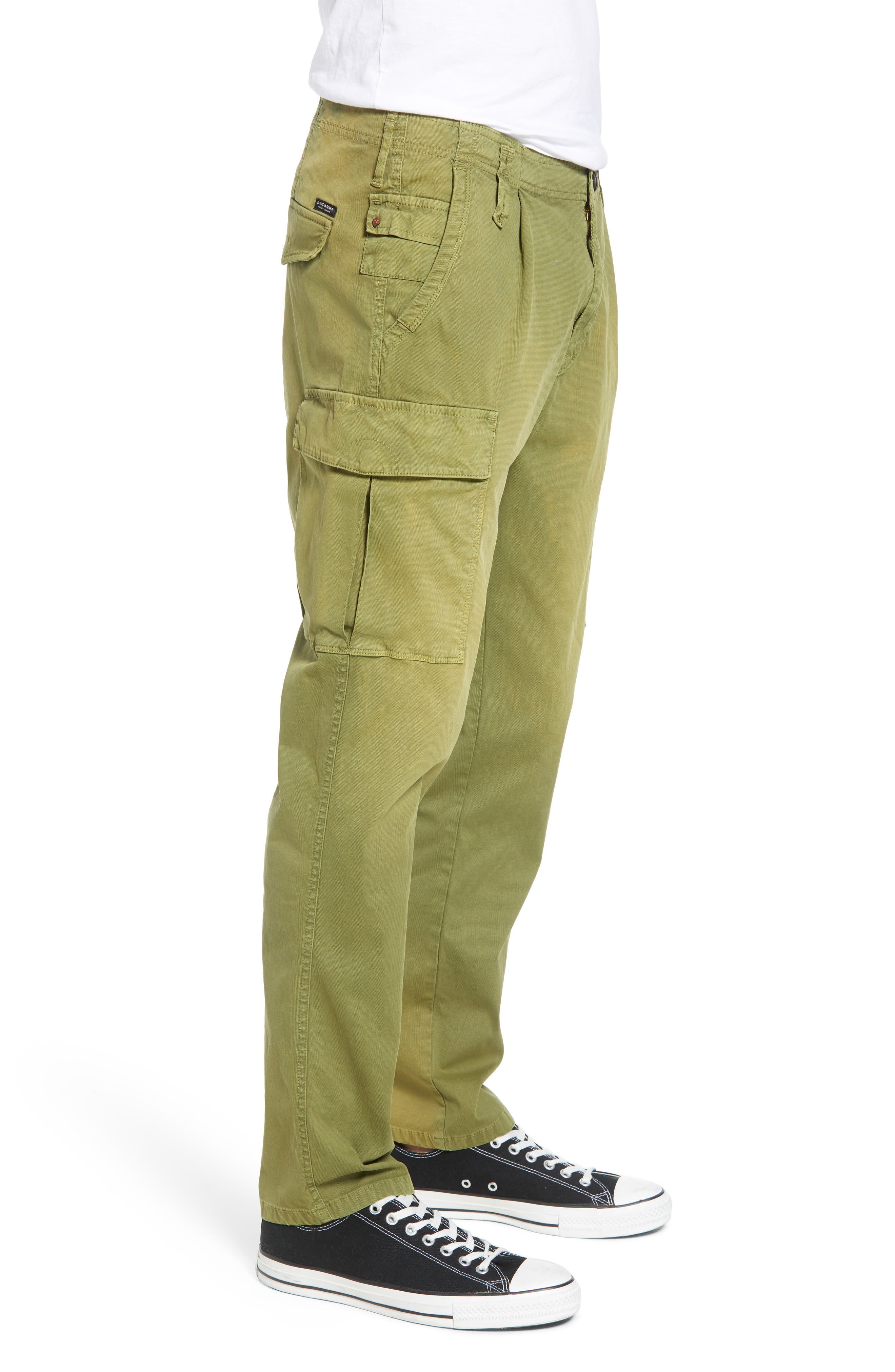 SCOTCH & SODA,                             Loose Taper Fit Washed Cargo Pants,                             Alternate thumbnail 3, color,                             MILITARY