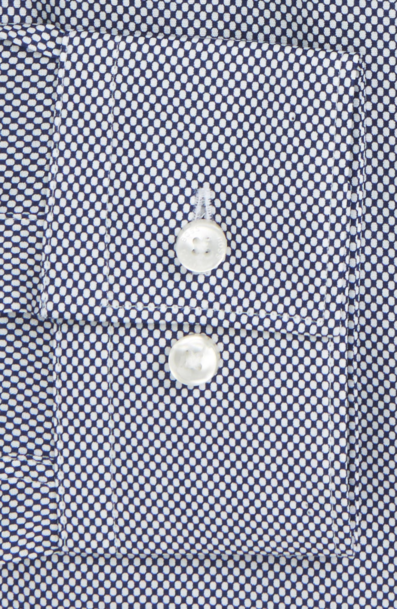 Ismo Slim Fit Dot Dress Shirt,                             Alternate thumbnail 6, color,                             410