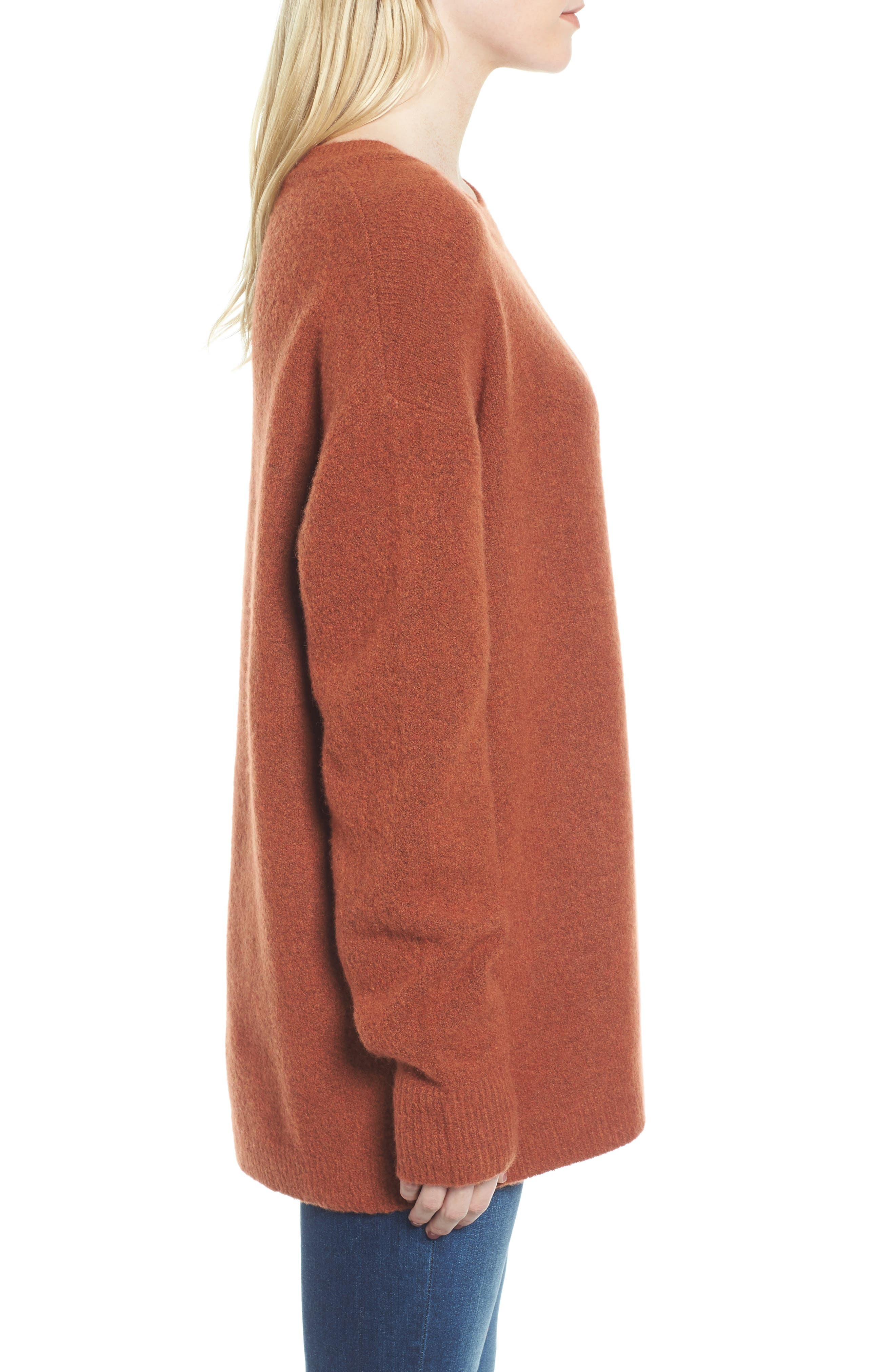 Oversize Cashmere Sweater,                             Alternate thumbnail 3, color,                             806
