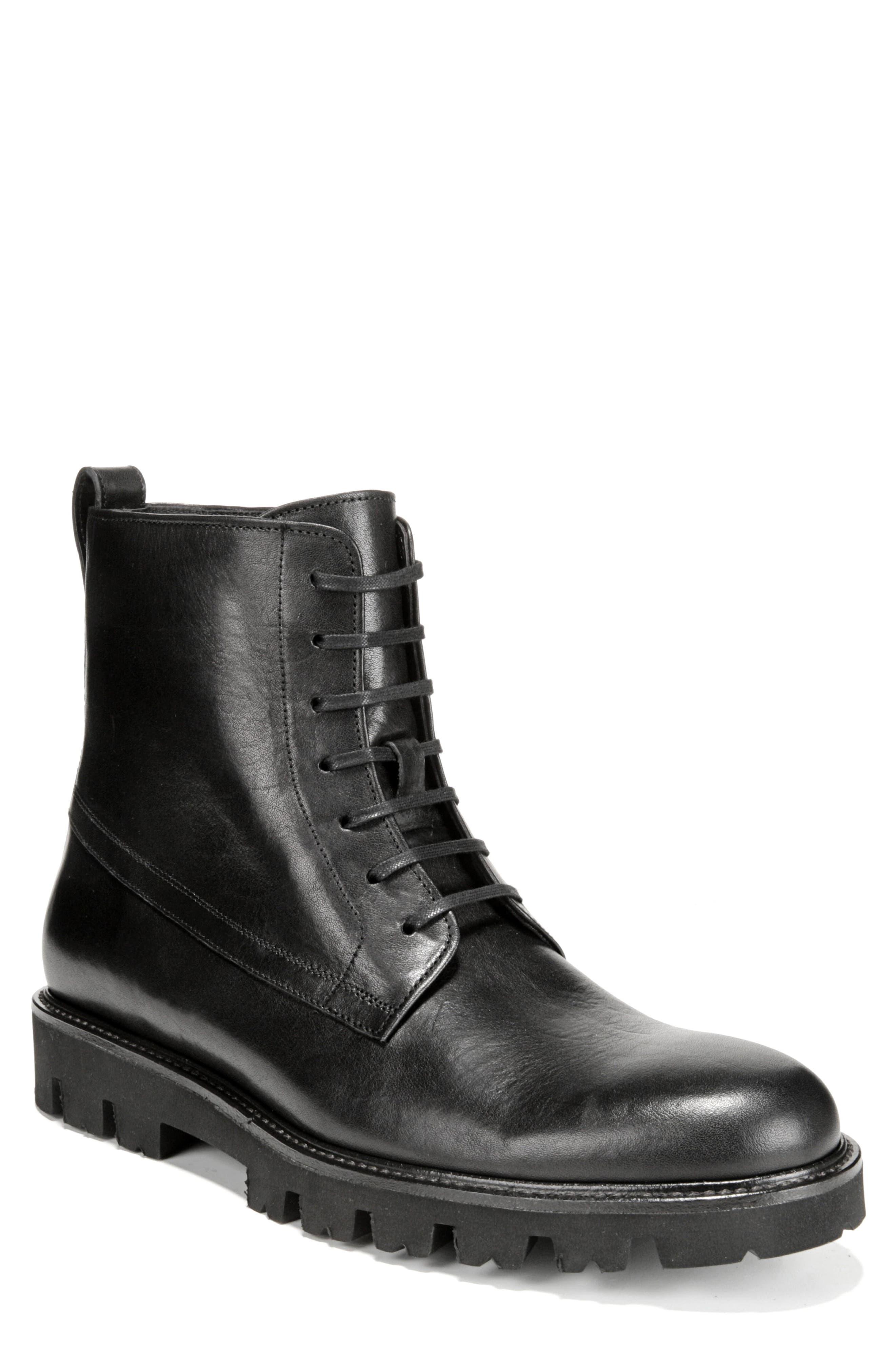 Commander Plain Toe Boot,                             Main thumbnail 1, color,                             BLACK
