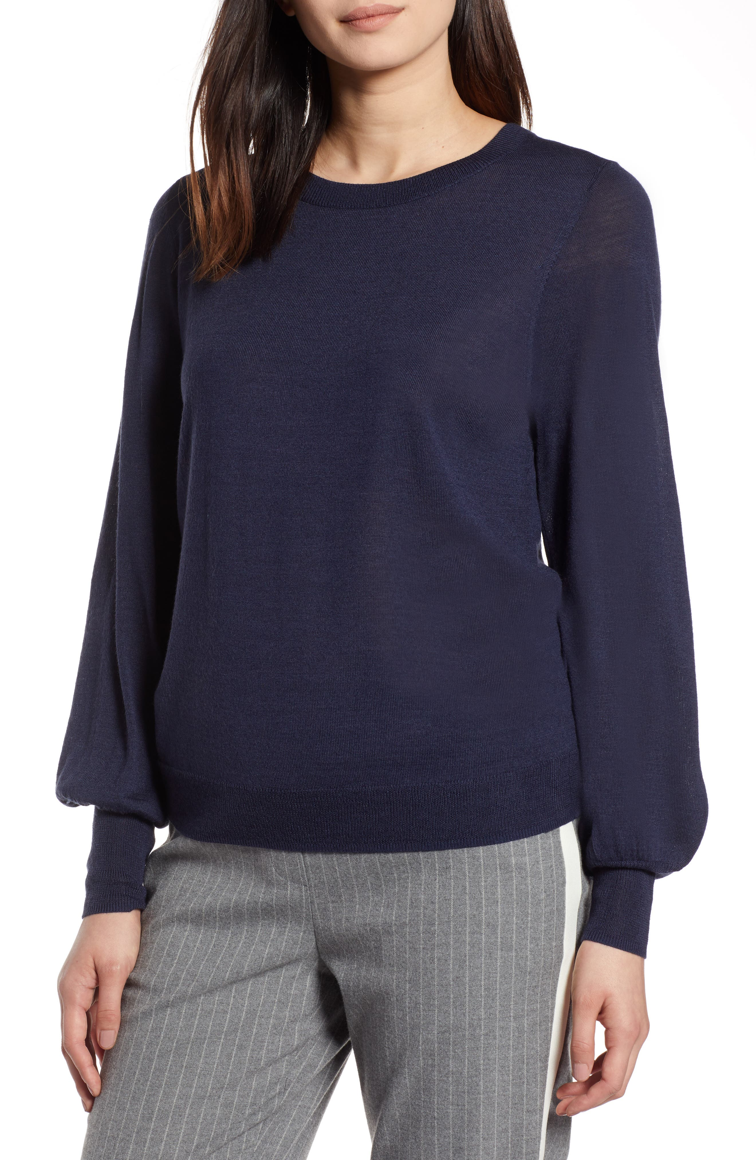 Puff Sleeve Sweater,                             Main thumbnail 6, color,