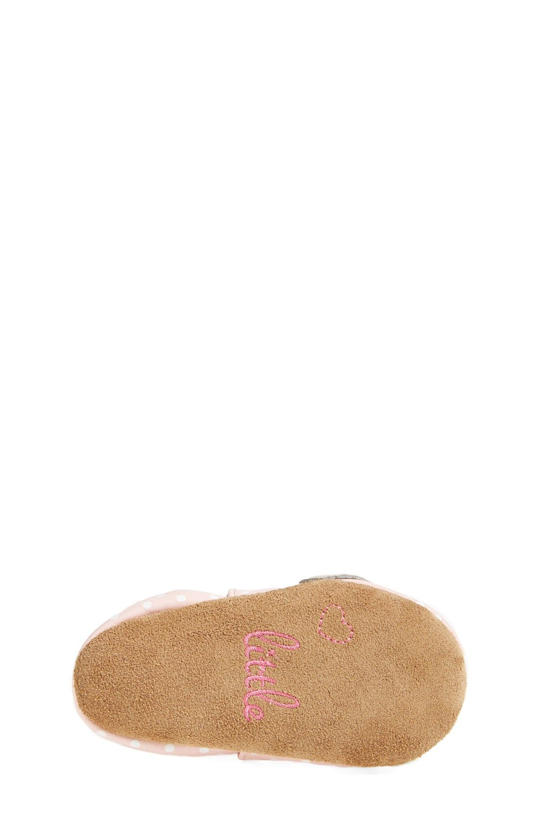'Little Peanut' Crib Shoe,                             Alternate thumbnail 4, color,                             PASTEL PINK