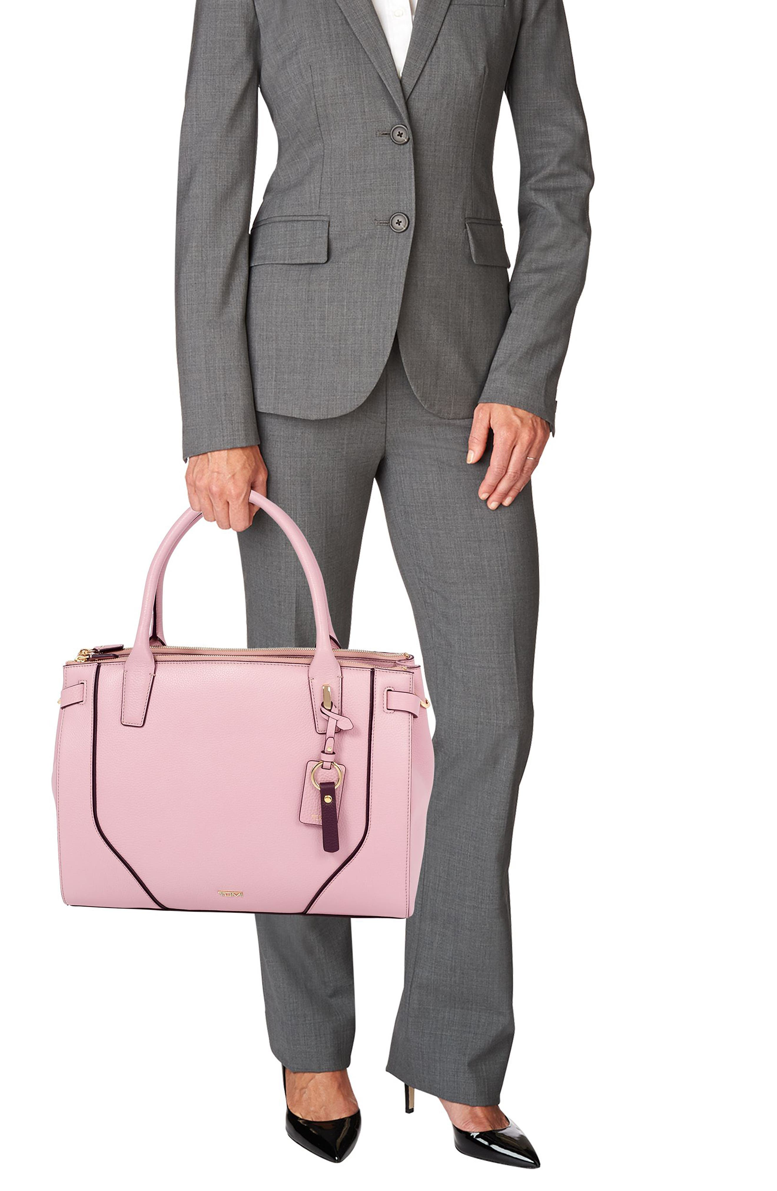 Stanton Kiran Leather Laptop Briefcase,                             Alternate thumbnail 2, color,                             PINK