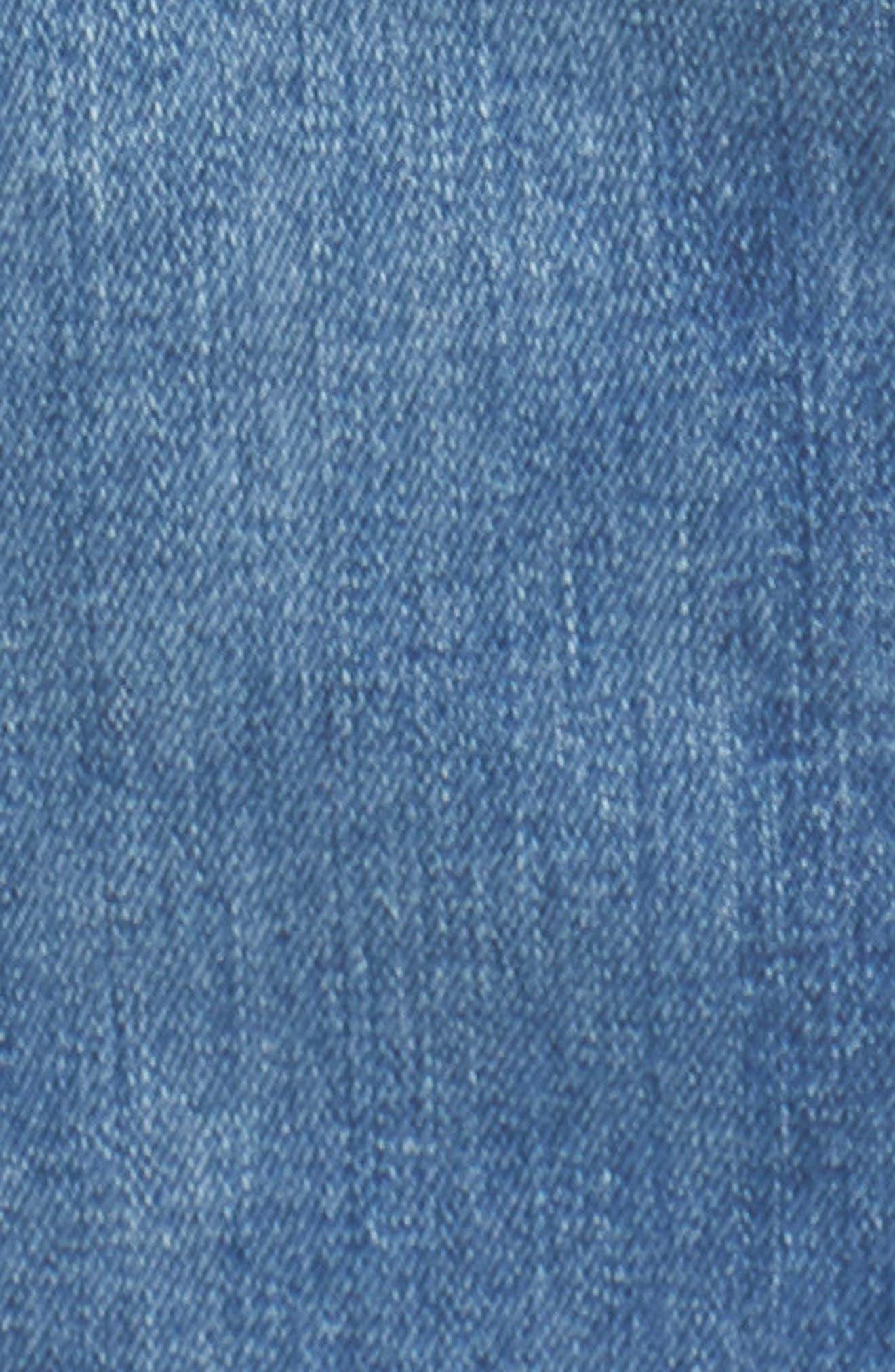 To the Point Denim Midi Dress,                             Alternate thumbnail 5, color,                             412