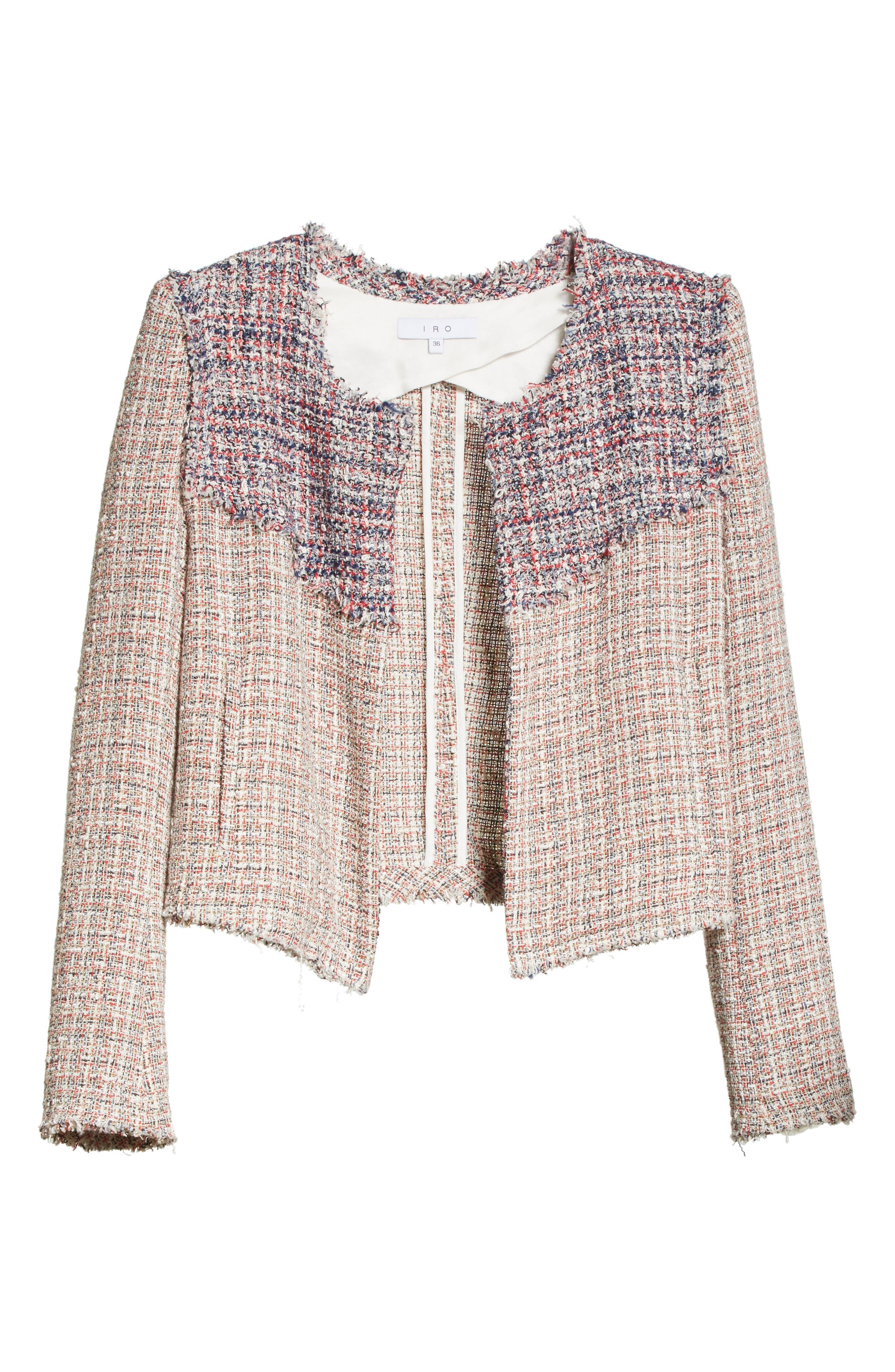 Walefa Tweed Jacket,                             Alternate thumbnail 5, color,                             651