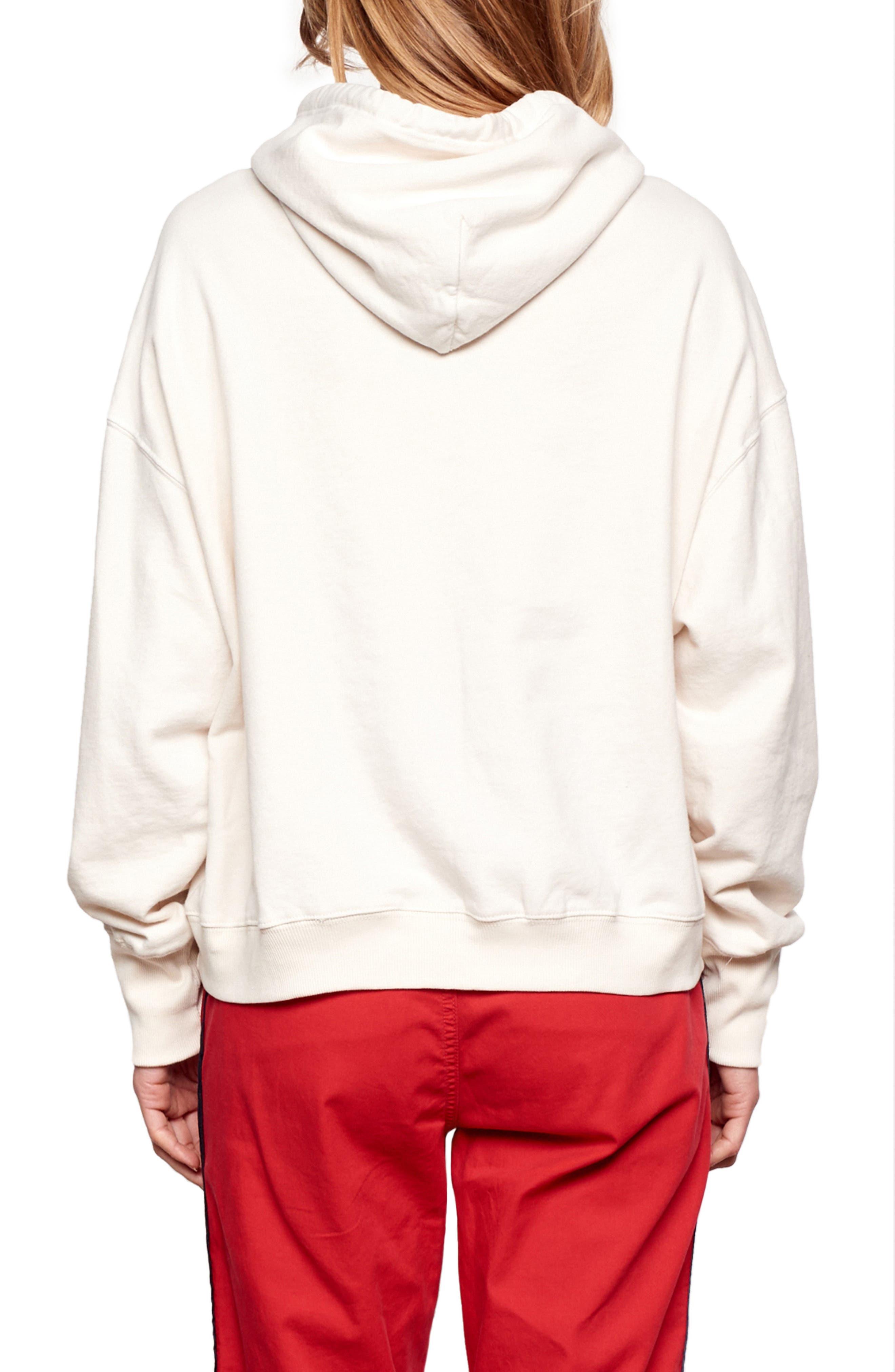 Merci Vintage Hoodie Sweatshirt,                             Alternate thumbnail 2, color,                             BONE