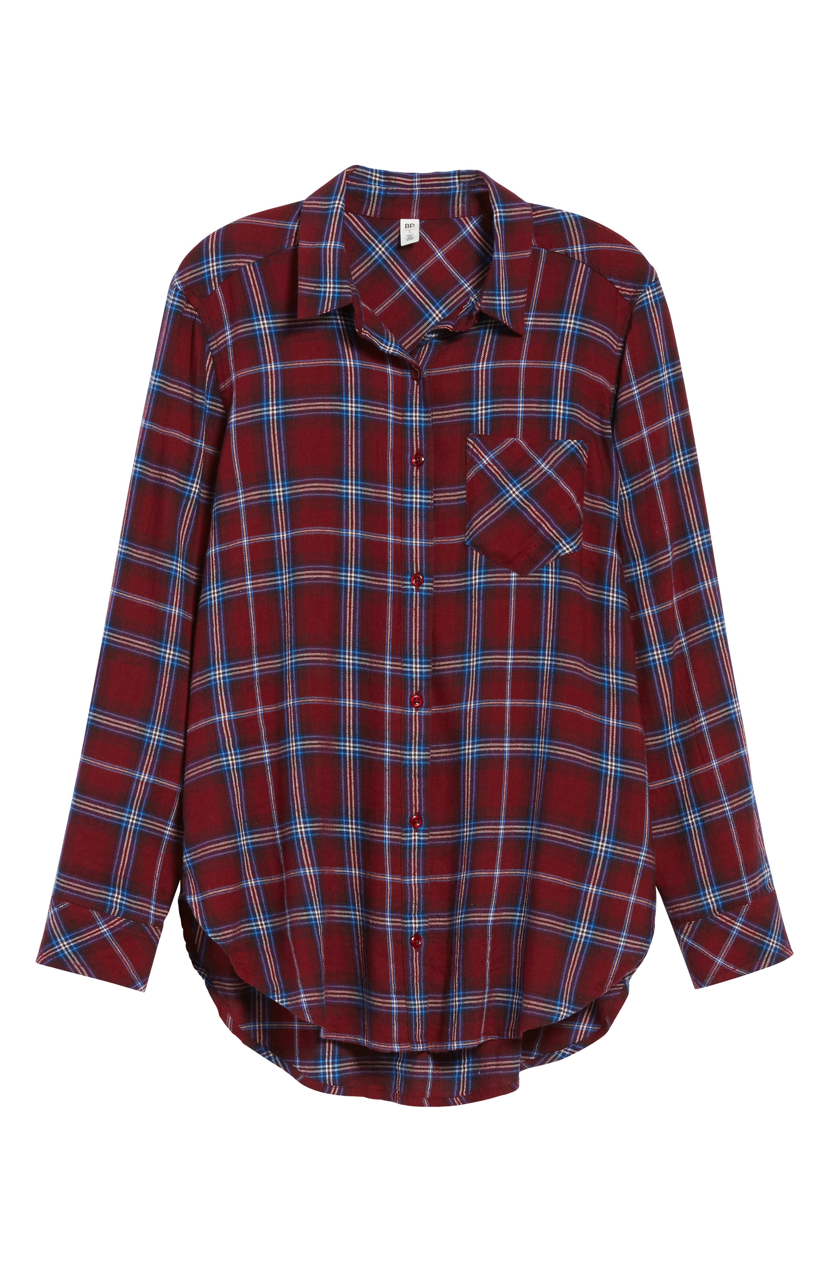Plaid Cotton Blend Shirt,                             Alternate thumbnail 28, color,