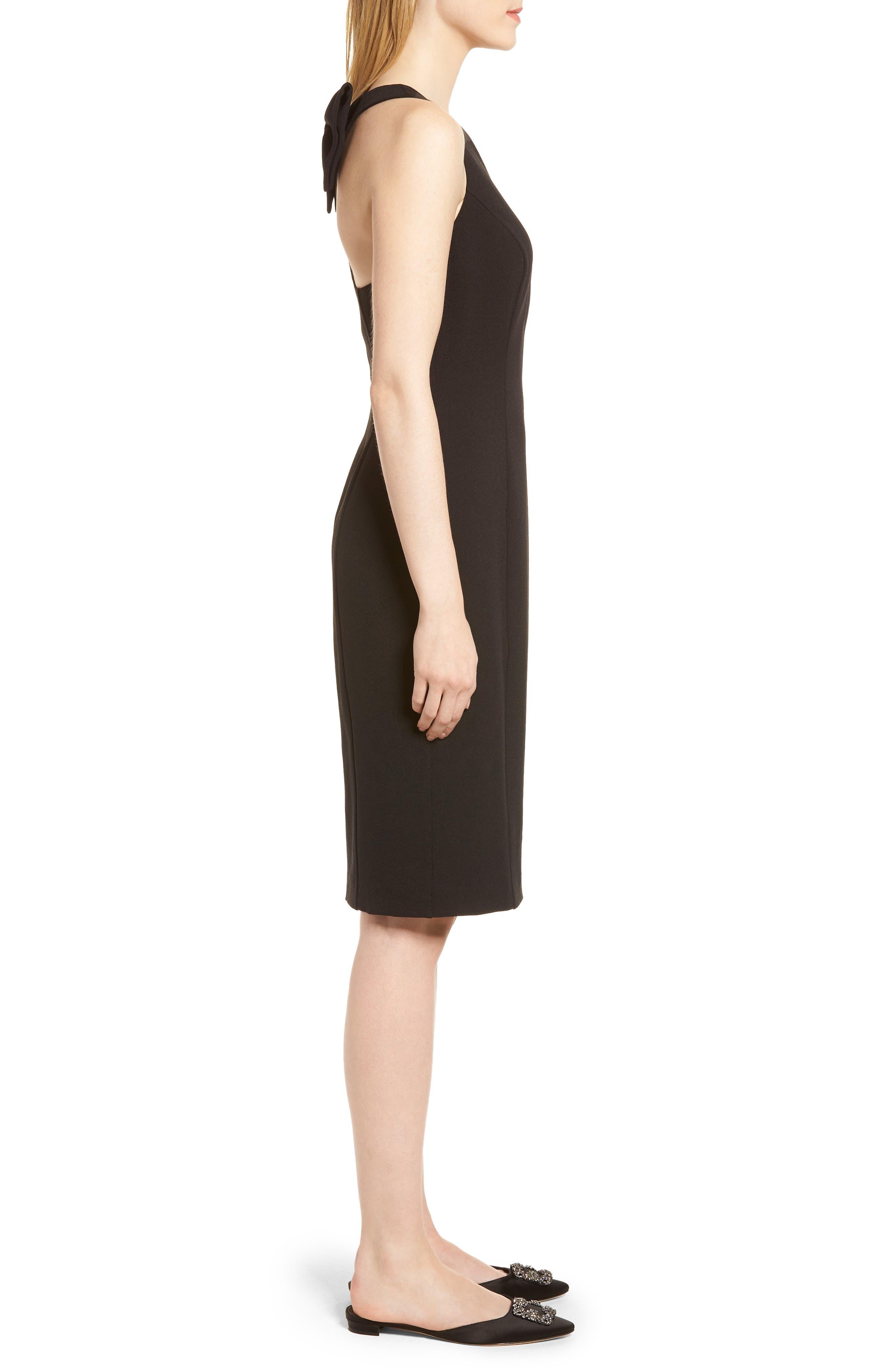 Bow Back Sheath Dress,                             Alternate thumbnail 2, color,                             001