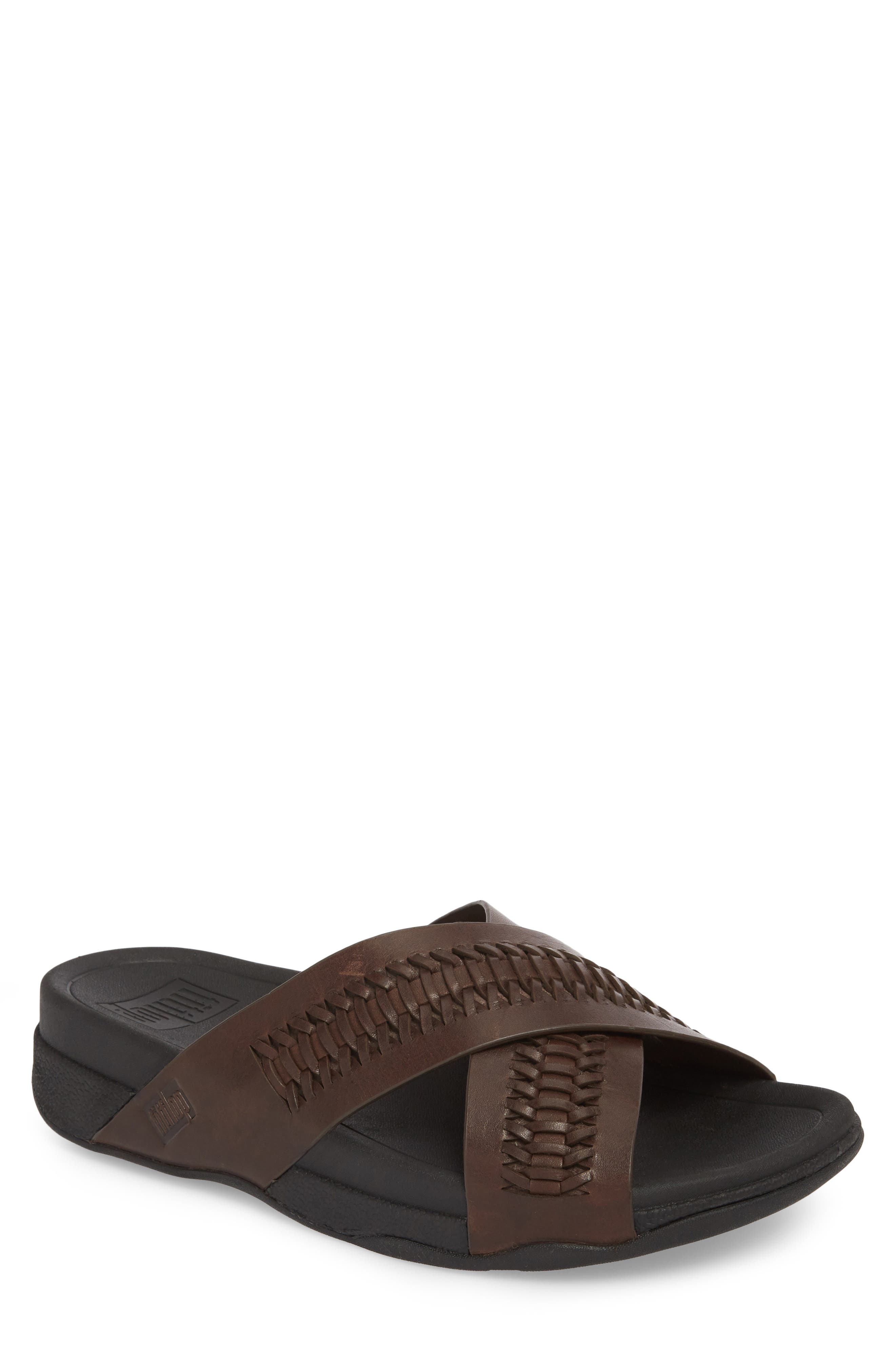 Surfer Slide Sandal,                             Main thumbnail 1, color,                             CHOCOLATE BROWN