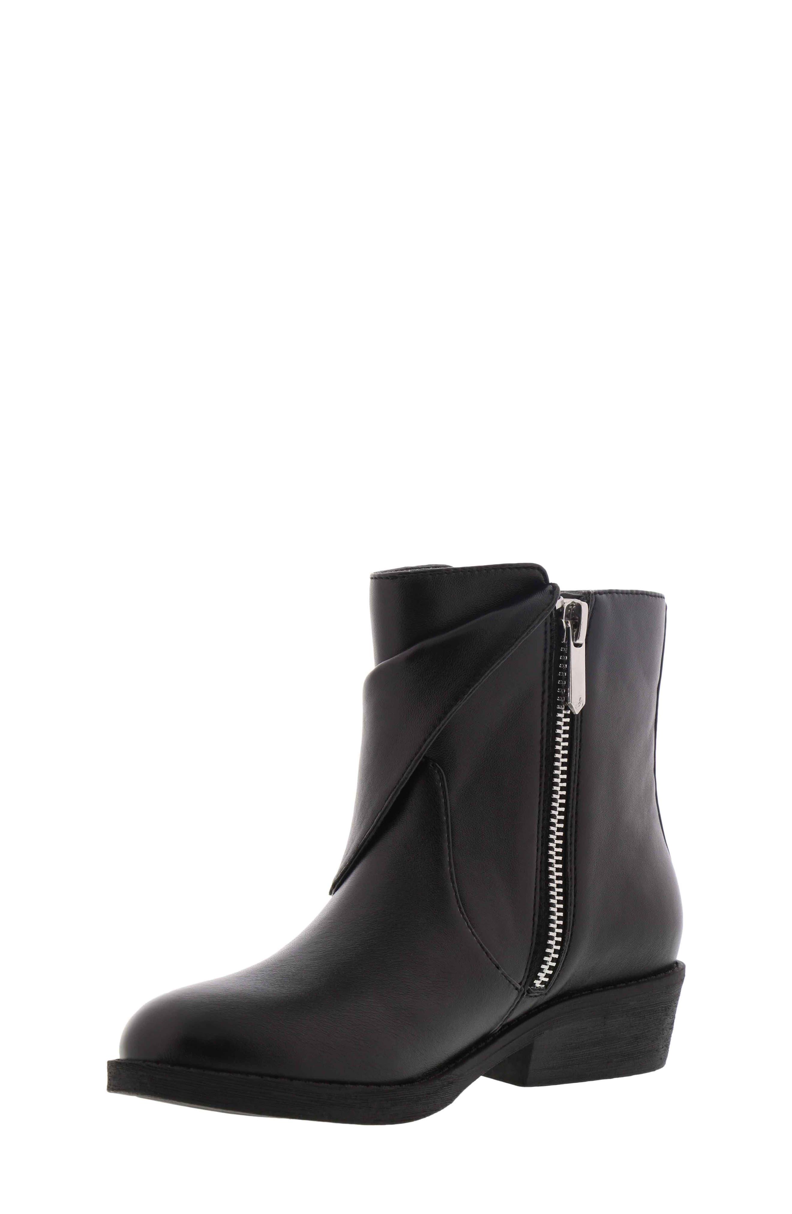 Becka Tessa Faux Leather Moto Boot,                             Alternate thumbnail 8, color,                             BLACK
