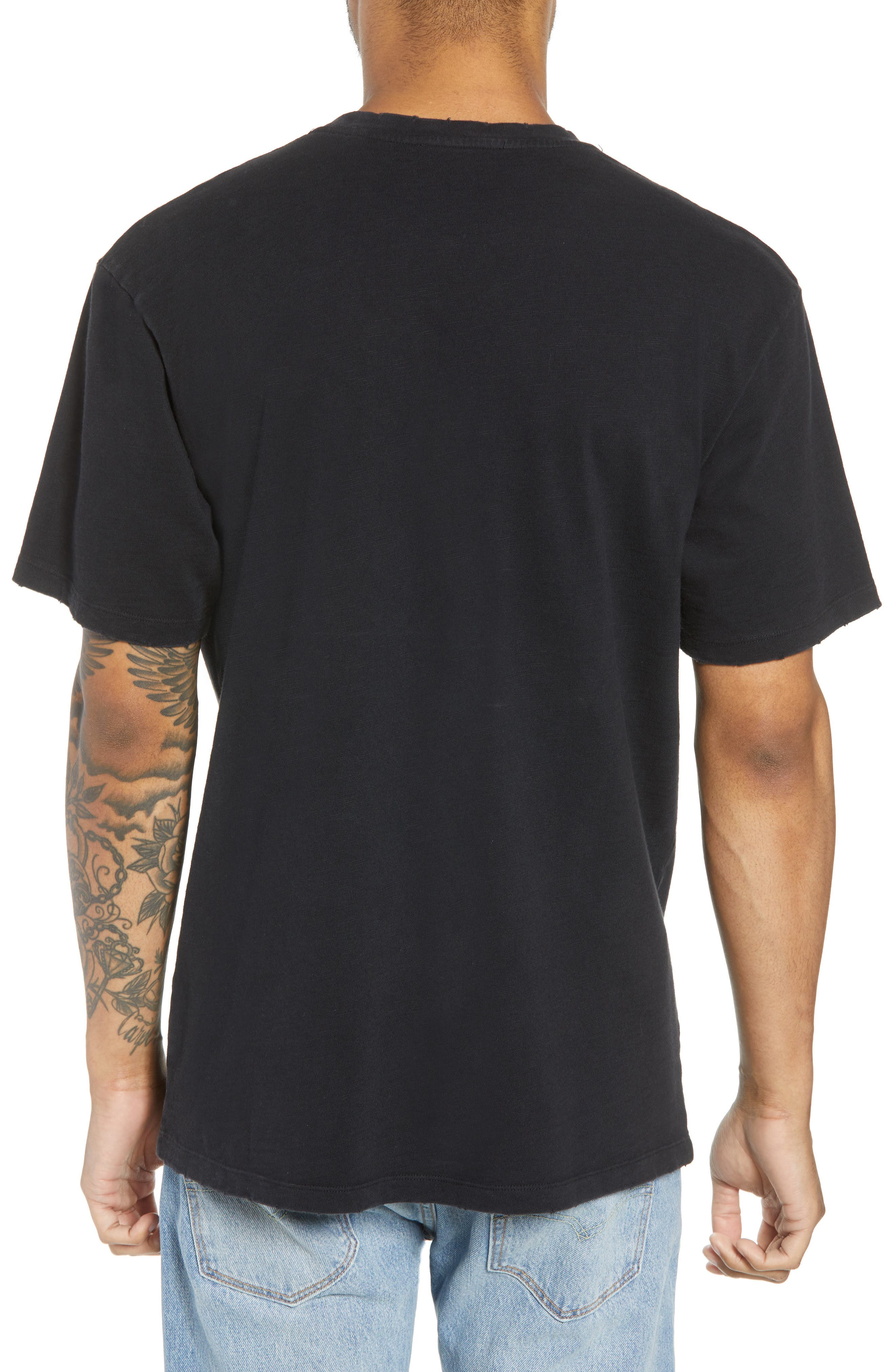 Slubbed Graphic T-Shirt,                             Alternate thumbnail 2, color,                             BLACK