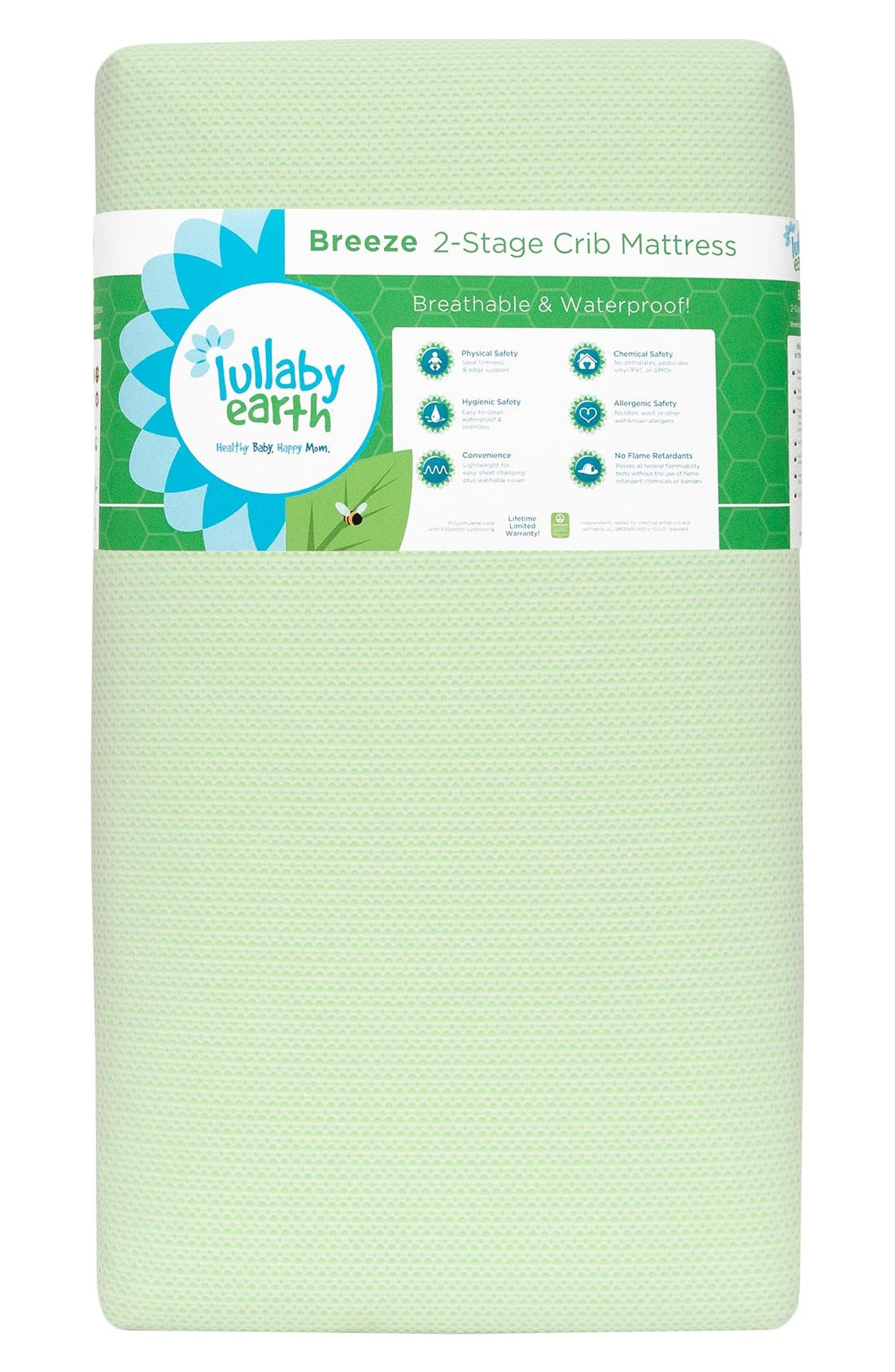 'Breeze' Two Stage Crib Mattress,                             Main thumbnail 4, color,