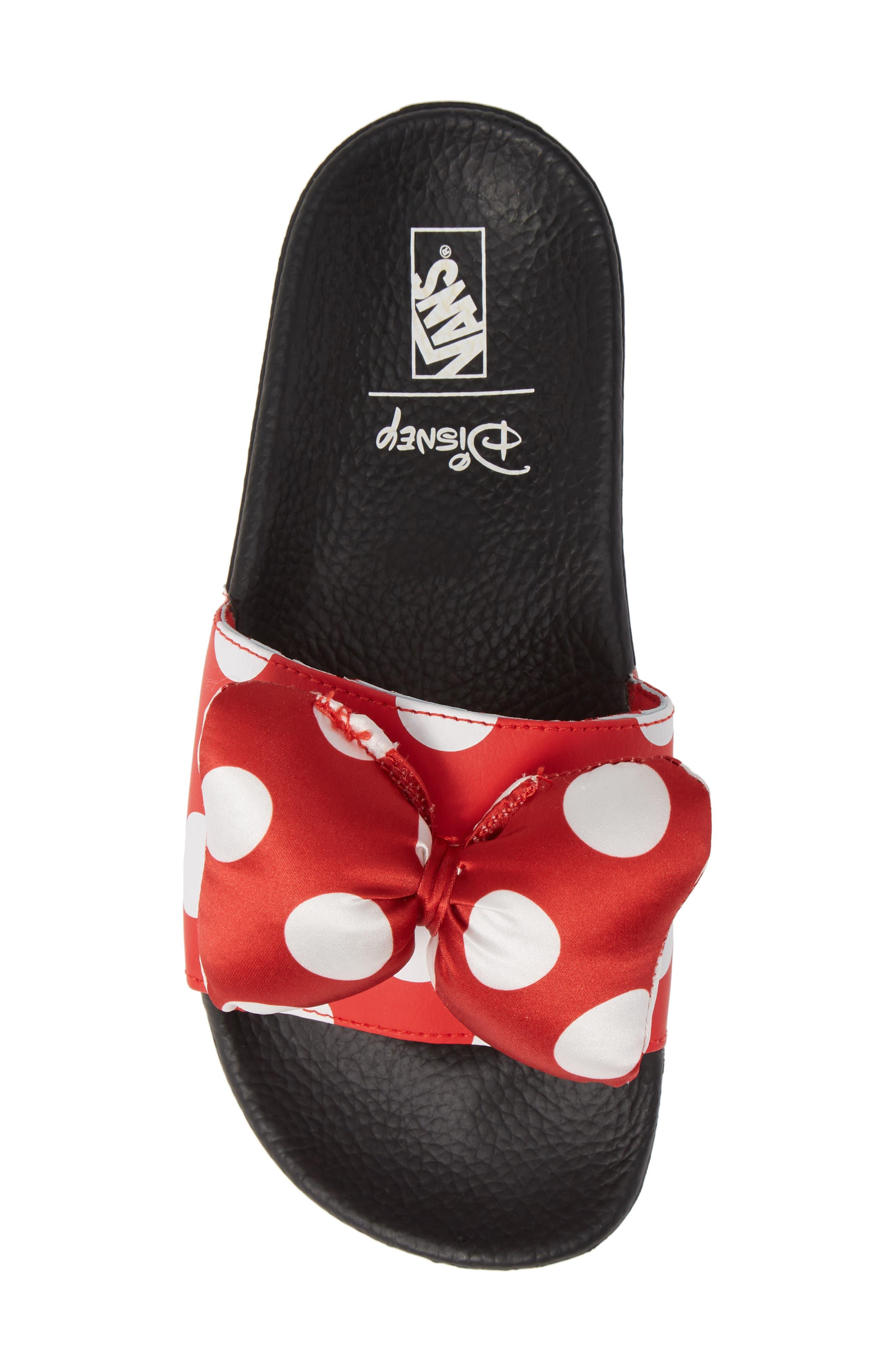 x Disney Minnie Mouse Slide Sandal,                             Alternate thumbnail 5, color,                             600