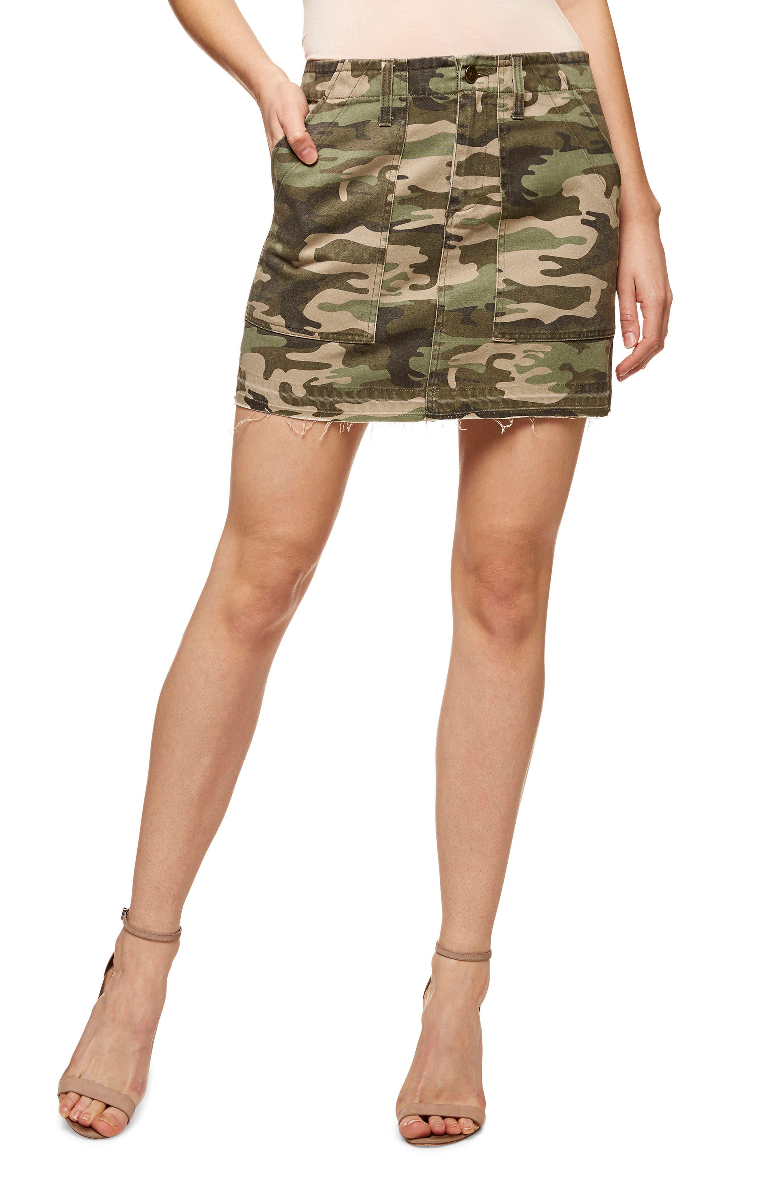Safari Camo Skirt,                             Main thumbnail 1, color,                             393