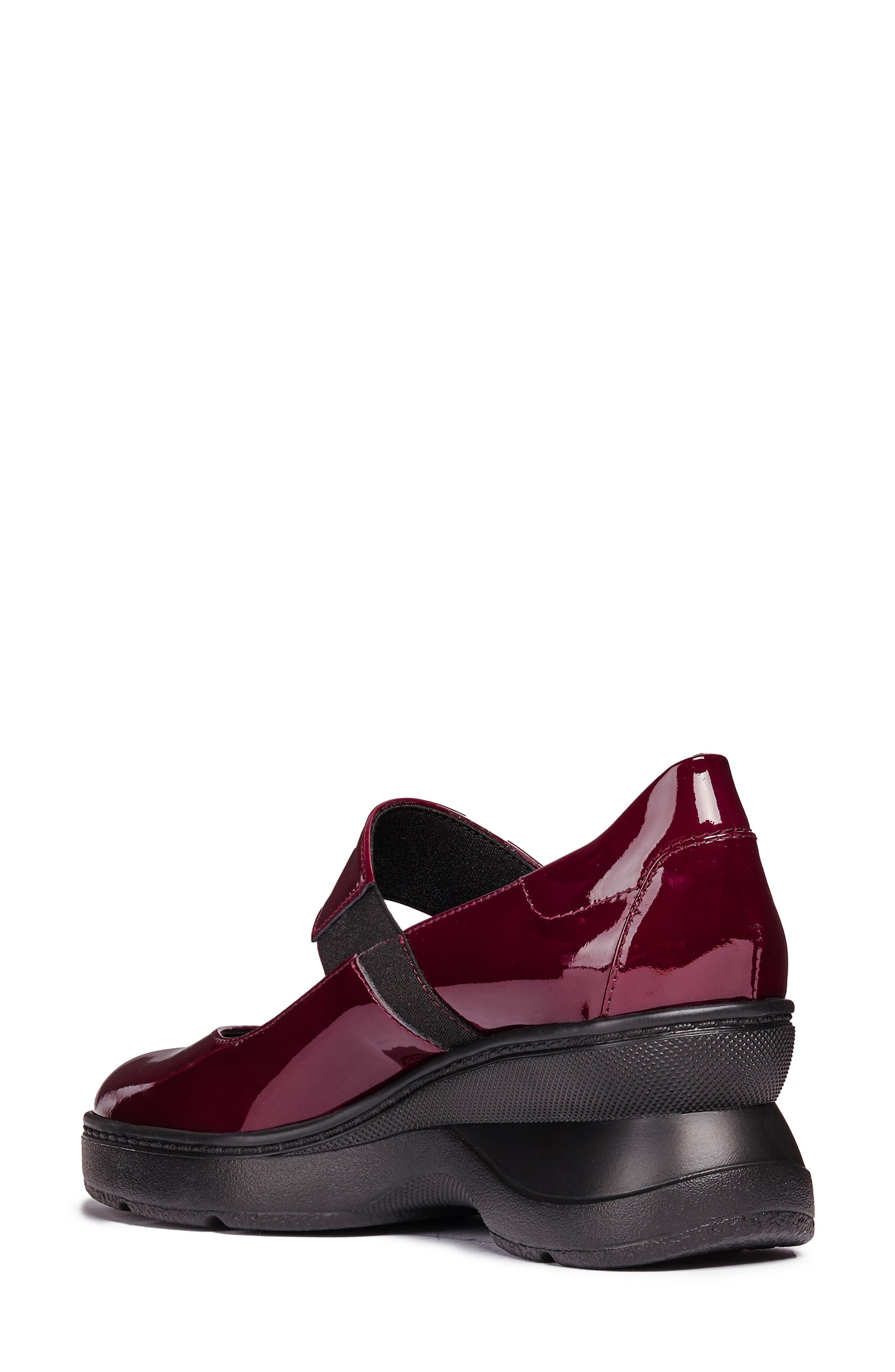 Ascythia Mary Jane Wedge,                             Alternate thumbnail 2, color,                             BORDEAUX LEATHER