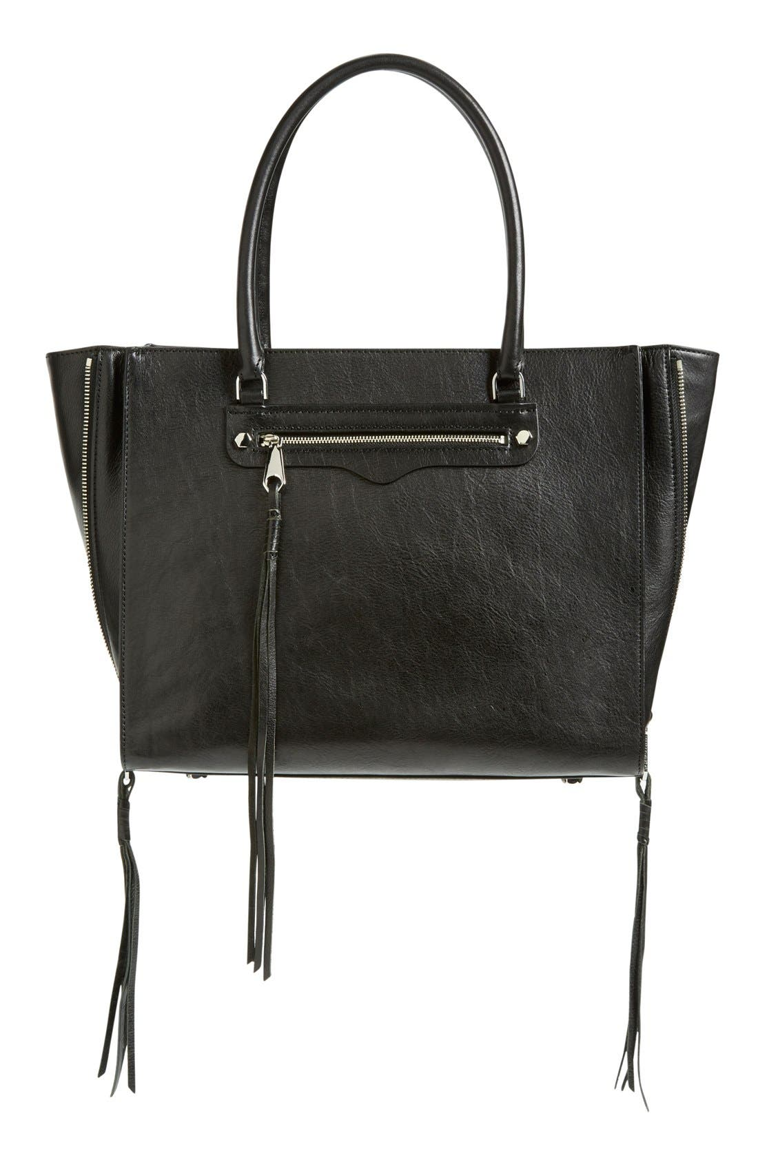 'Side Zip Regan' Tote,                             Main thumbnail 1, color,