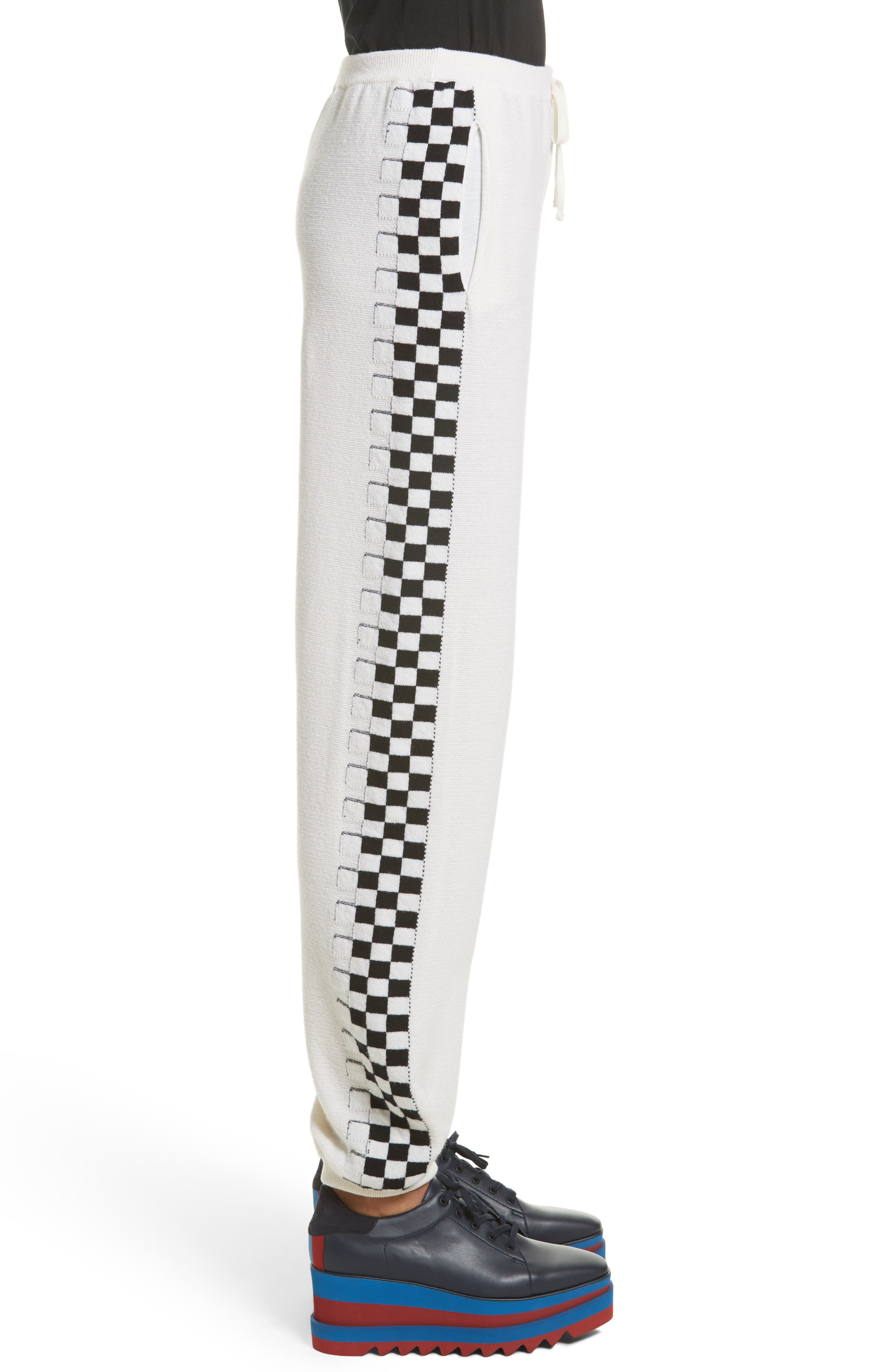 Check Stripe Wool Joggers,                             Alternate thumbnail 3, color,                             900