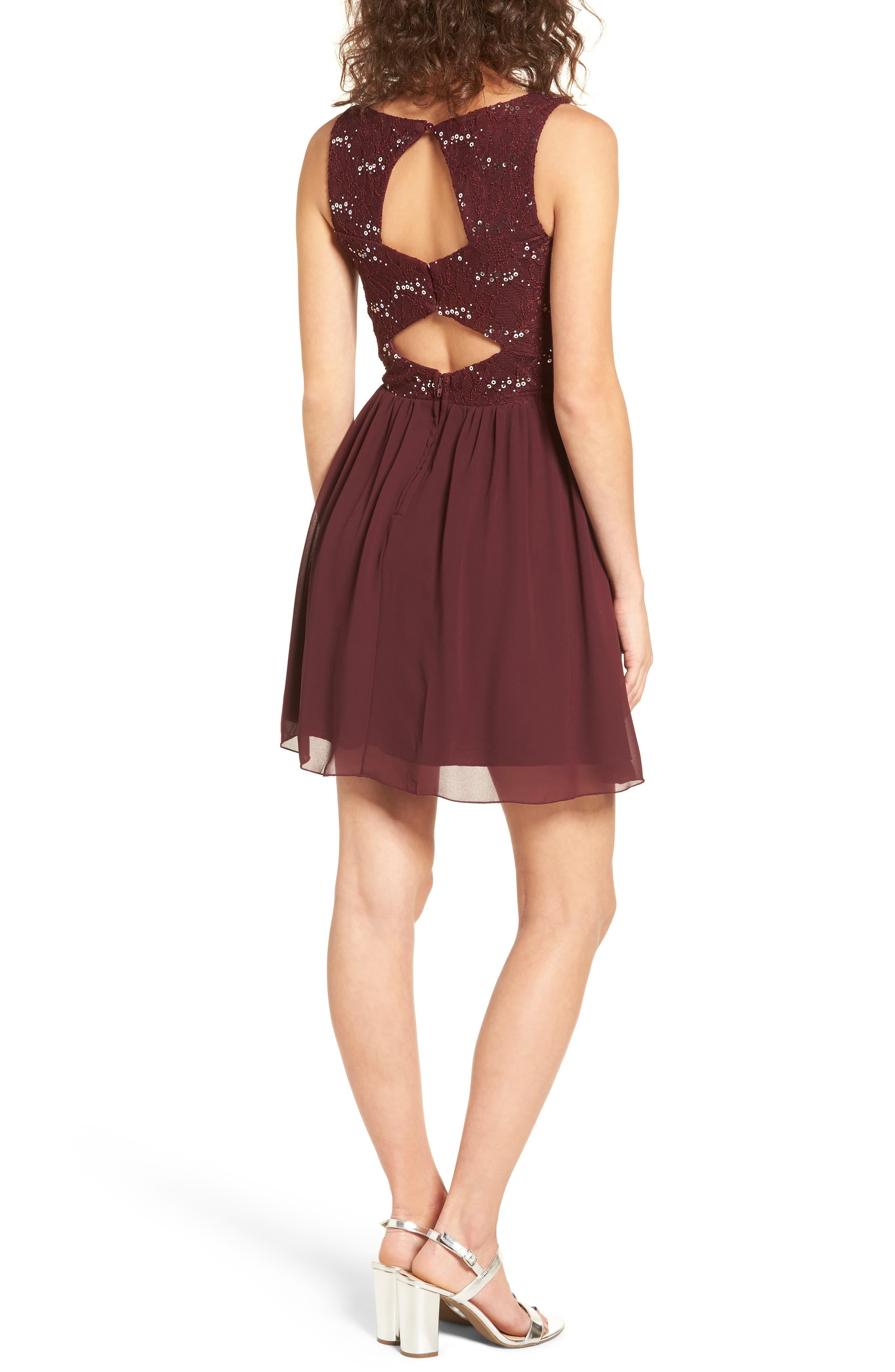 Jeweled Belt Dress,                             Alternate thumbnail 4, color,