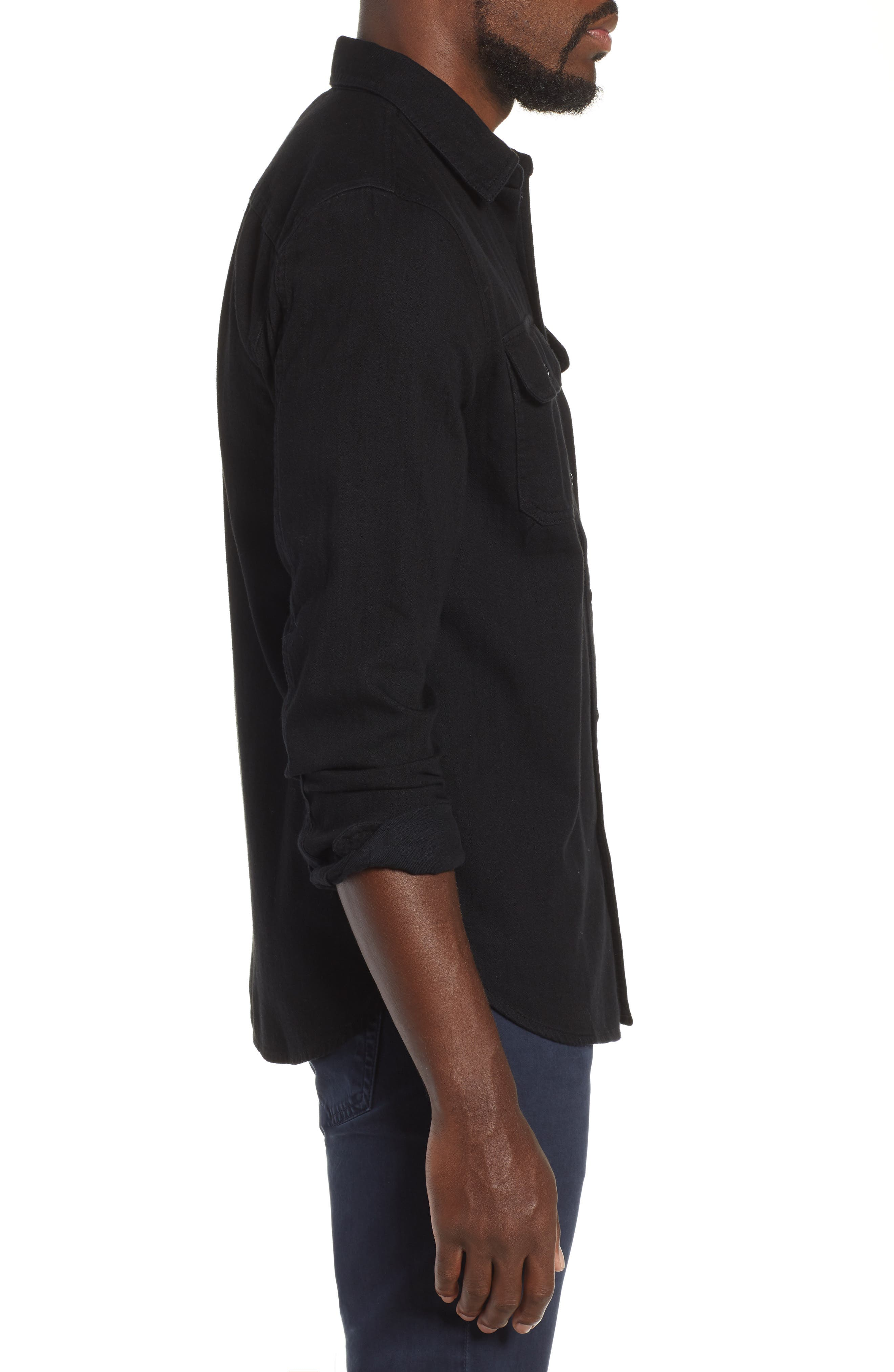 Benning Slim Fit Utility Shirt,                             Alternate thumbnail 4, color,                             PIPELINE