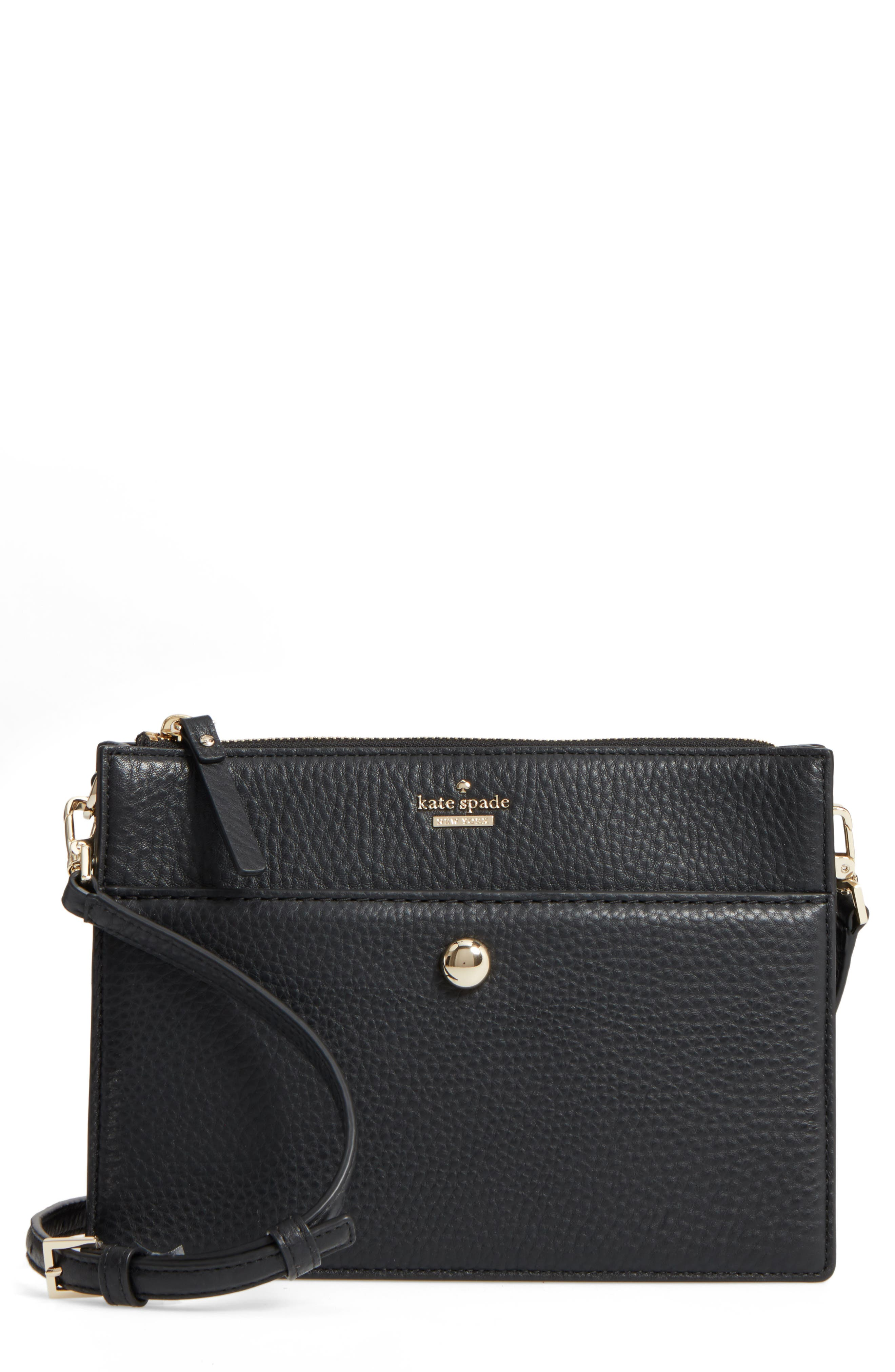 steward street clarise leather shoulder bag,                         Main,                         color, 001