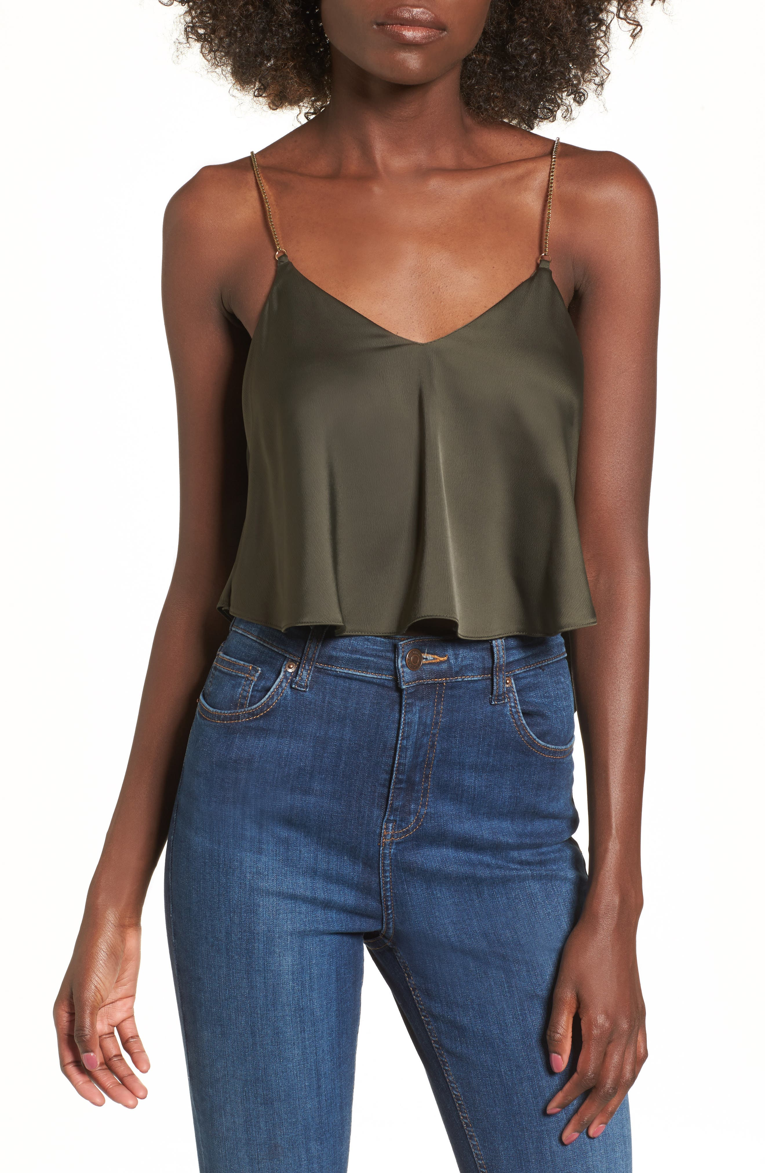 Chain Strap Camisole Top,                             Main thumbnail 3, color,