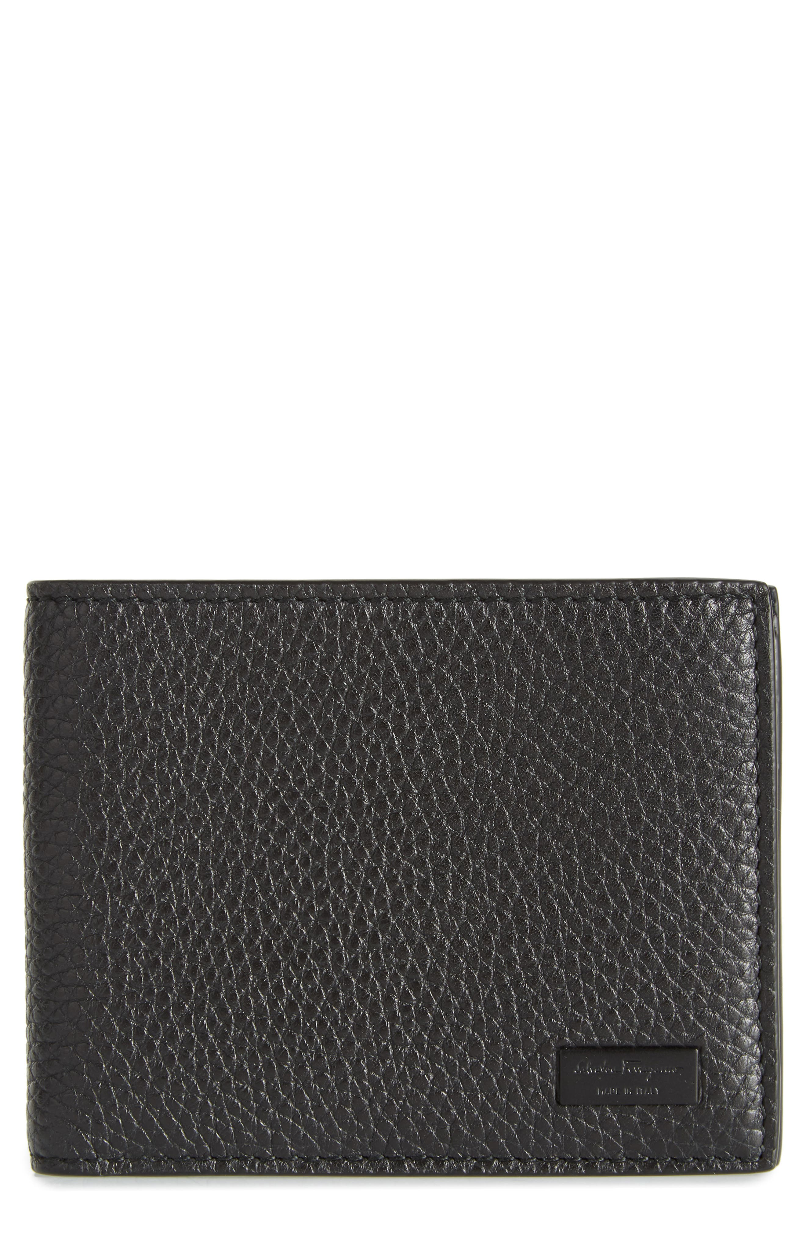 New Firenze Leather Wallet,                         Main,                         color, NERO