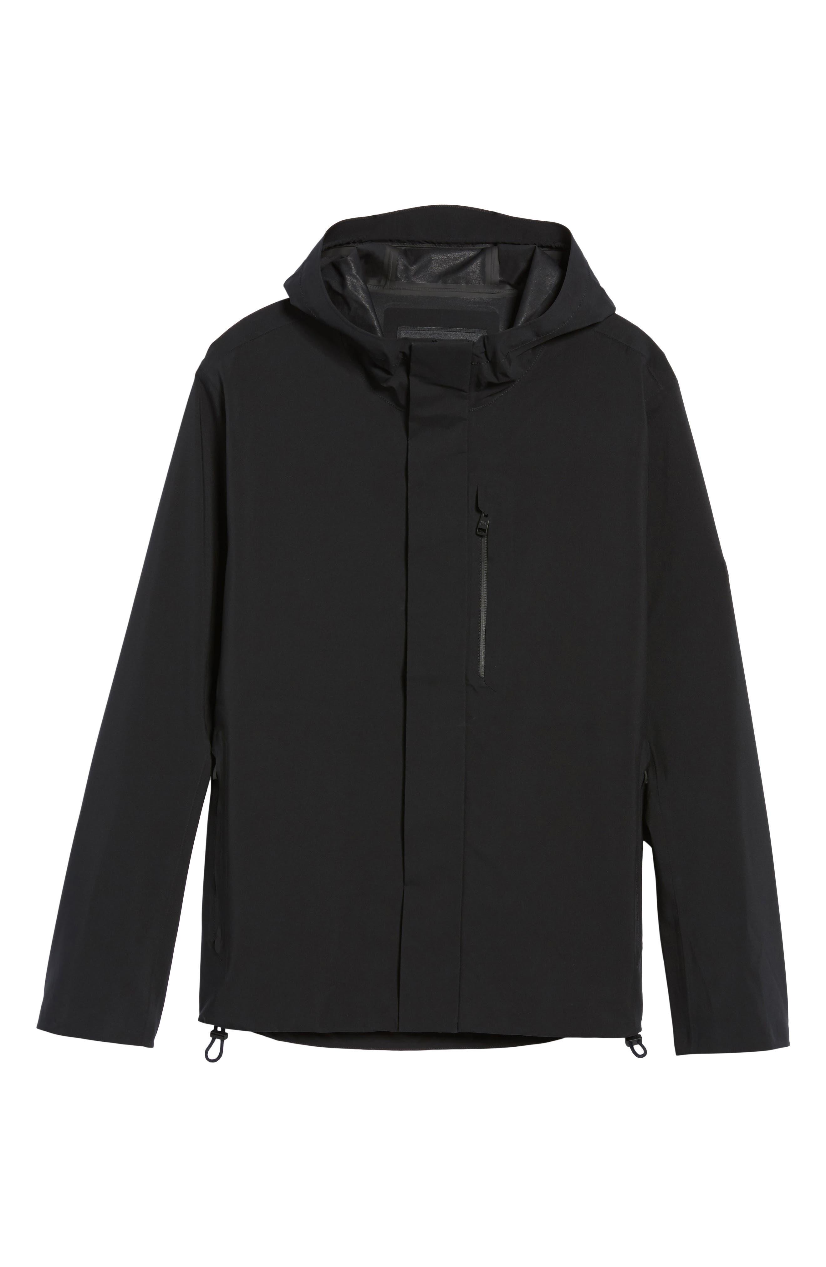 Marc New York Stratus Waterproof Hooded Rain Jacket,                             Alternate thumbnail 5, color,                             001