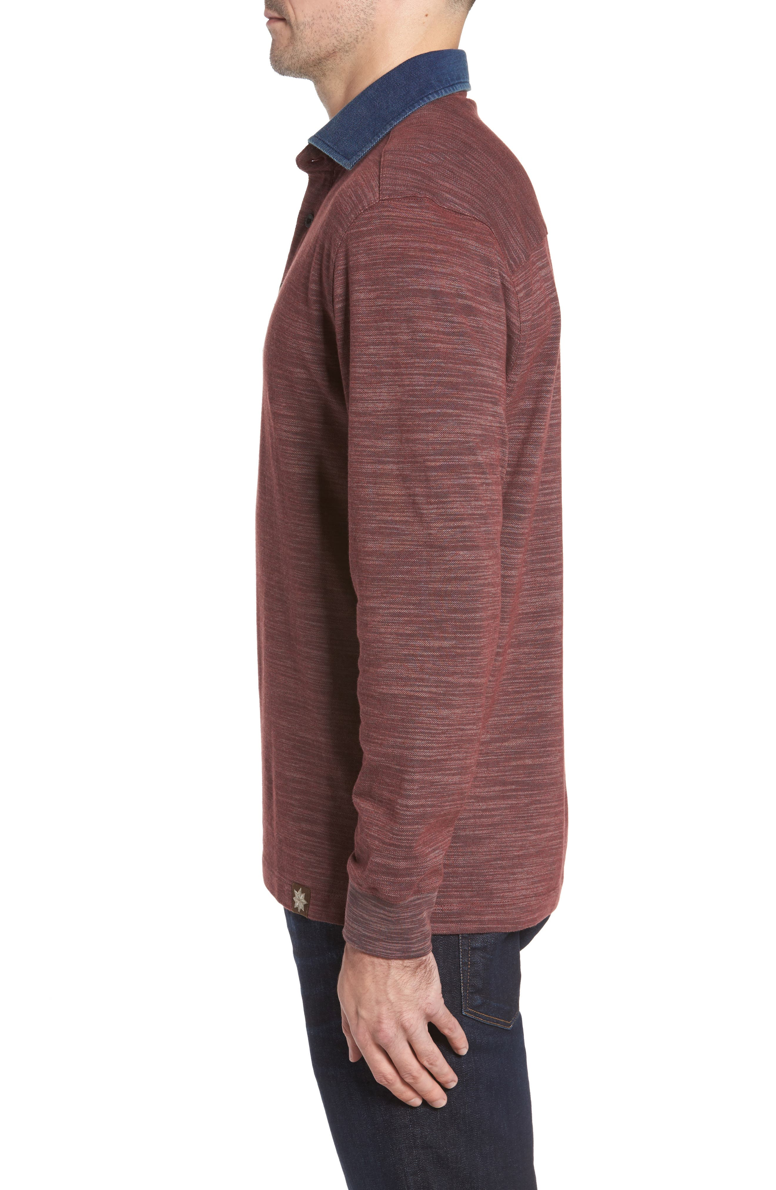 Patton Space Dyed Long Sleeve Polo,                             Alternate thumbnail 9, color,