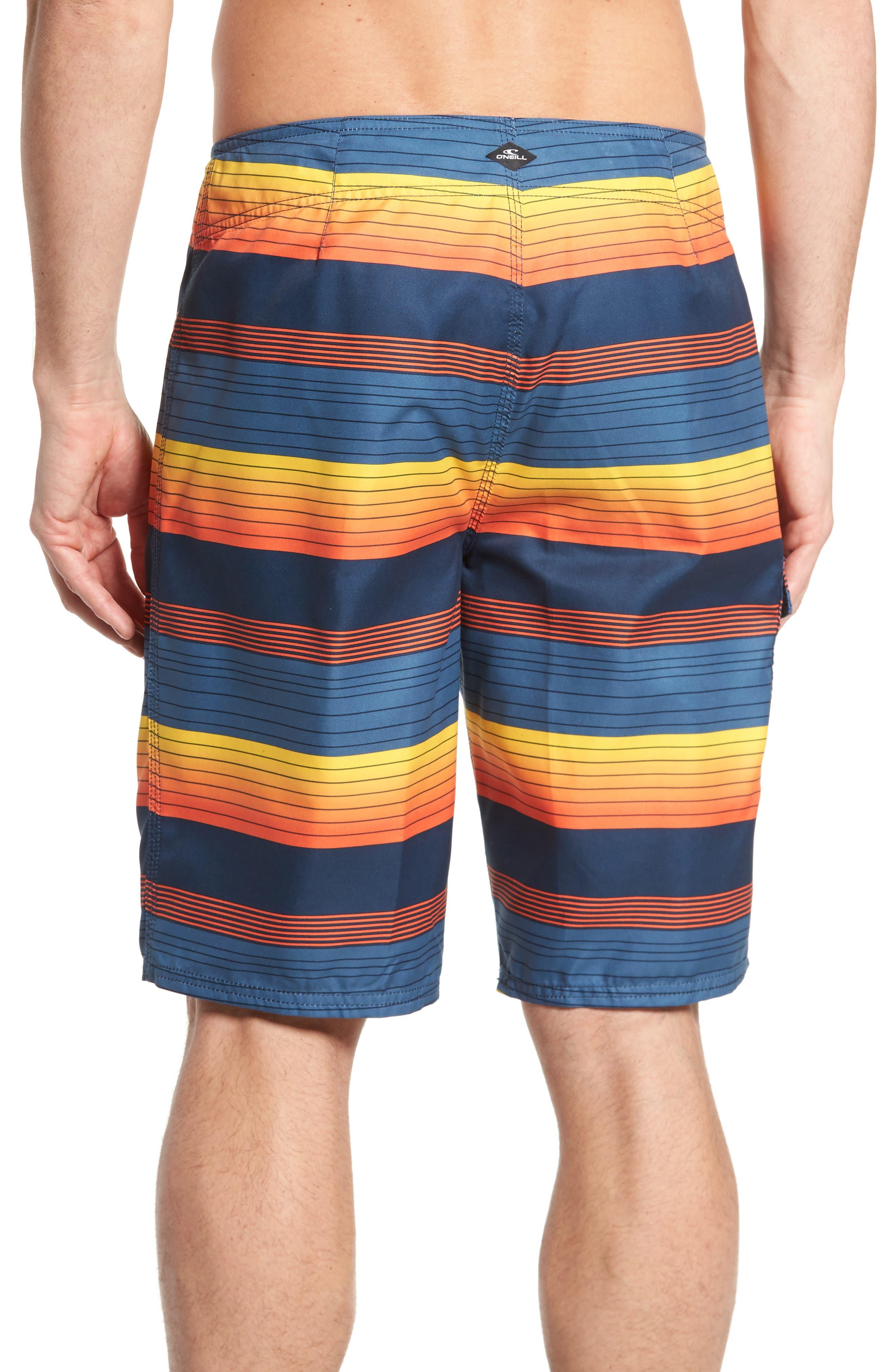 Santa Cruz Stripe Board Shorts,                             Alternate thumbnail 2, color,                             415