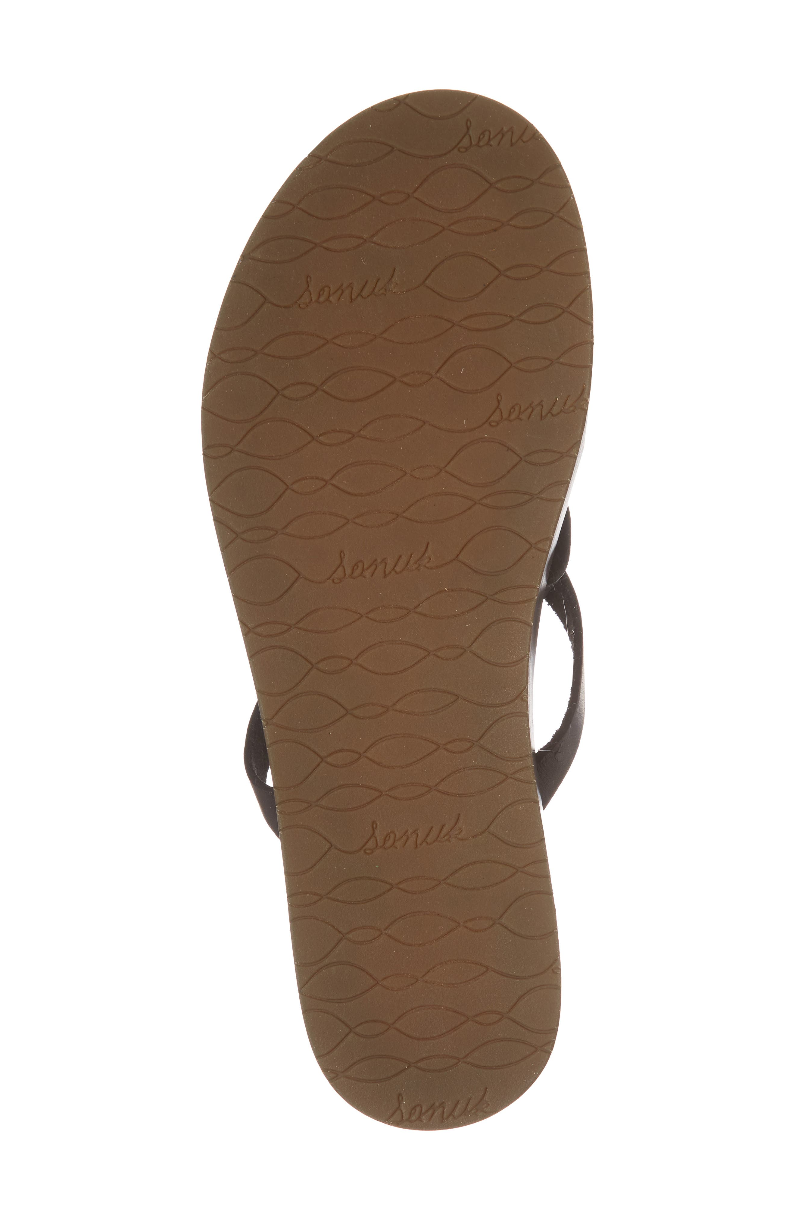 Yoga Strappy Thong Sandal,                             Alternate thumbnail 6, color,                             001