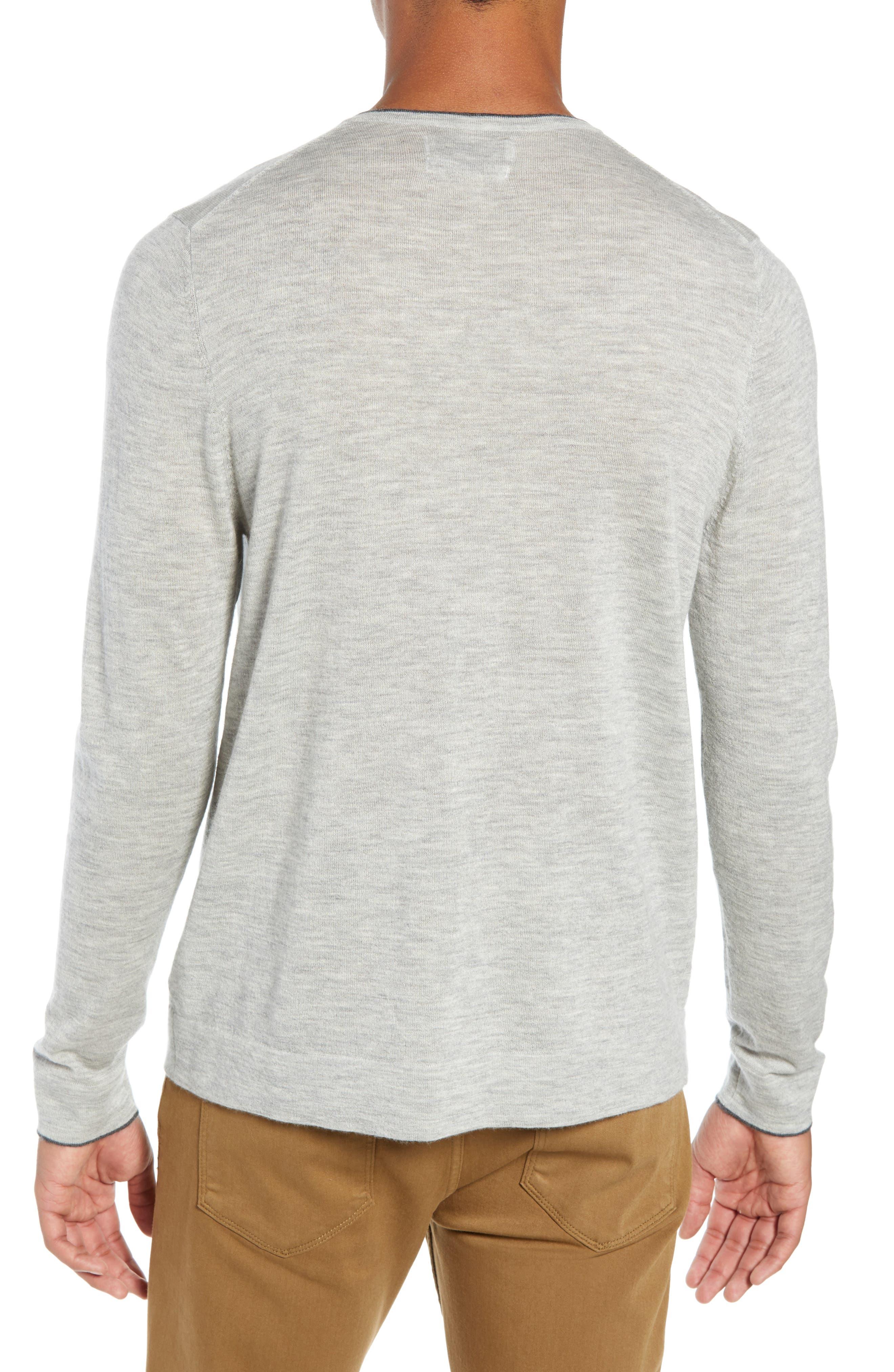 NORDSTROM SIGNATURE,                             Cashmere V-Neck Sweater,                             Alternate thumbnail 2, color,                             050