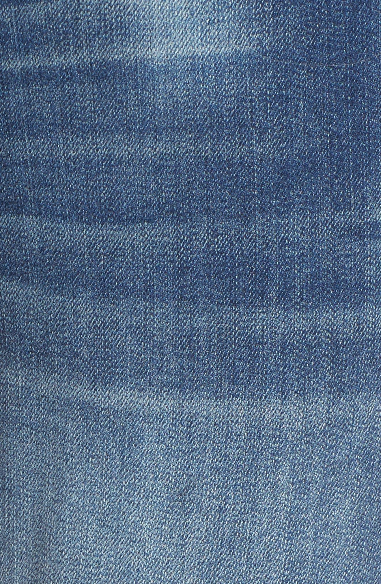 Destructed Maternity Skinny Jeans,                             Alternate thumbnail 5, color,                             IRENE