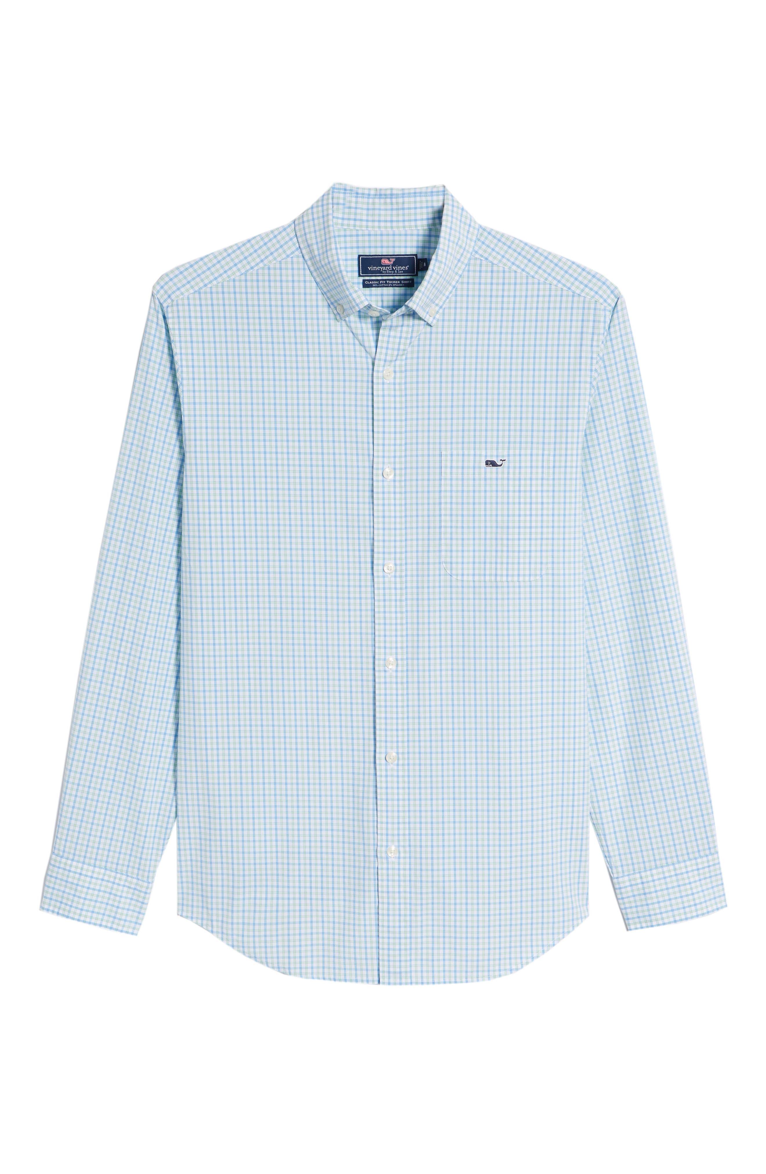 Clark Cove Tucker Classic Fit Check Sport Shirt,                             Alternate thumbnail 6, color,                             305