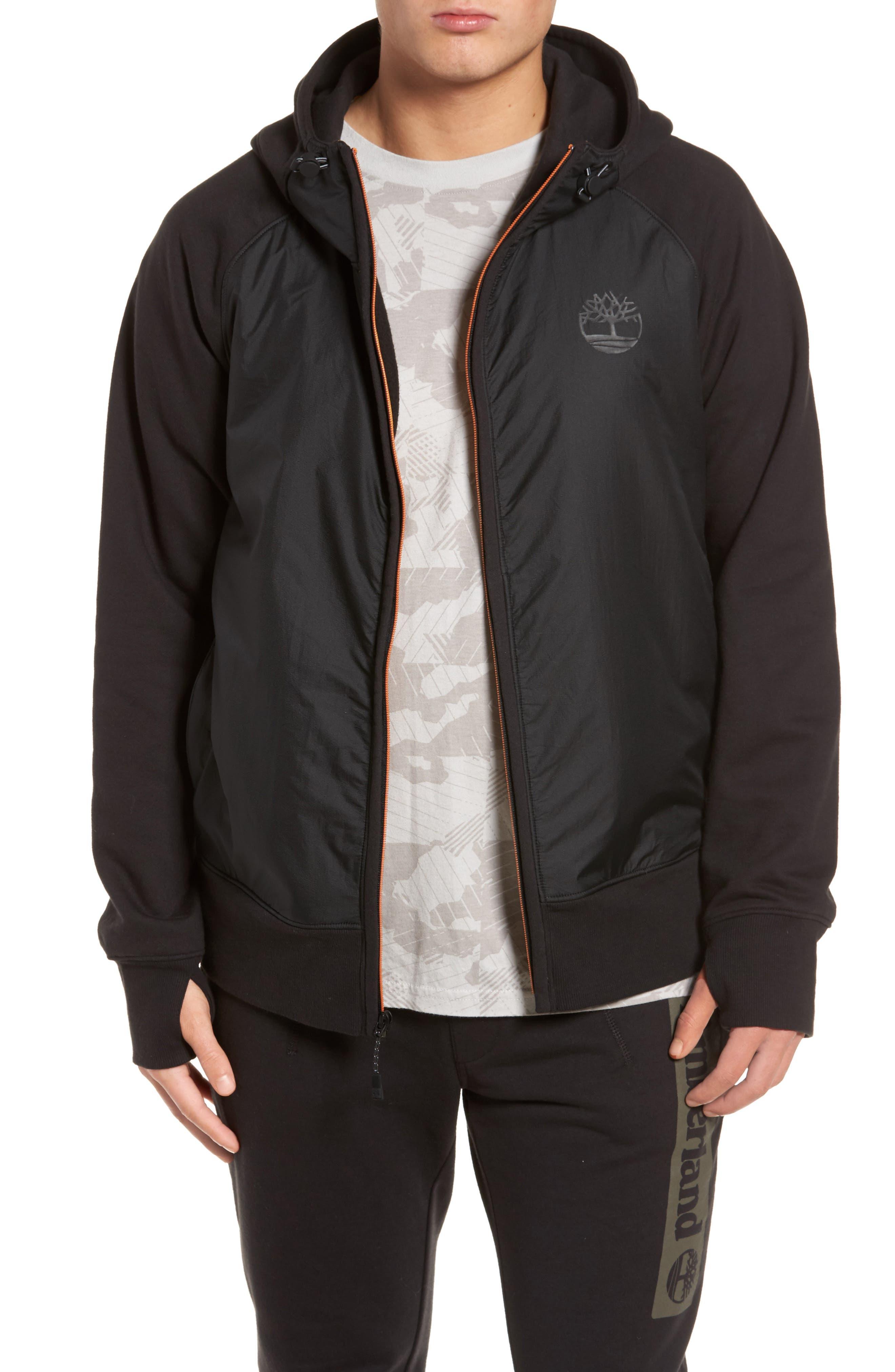Mixed Media Hooded Jacket,                         Main,                         color, 001