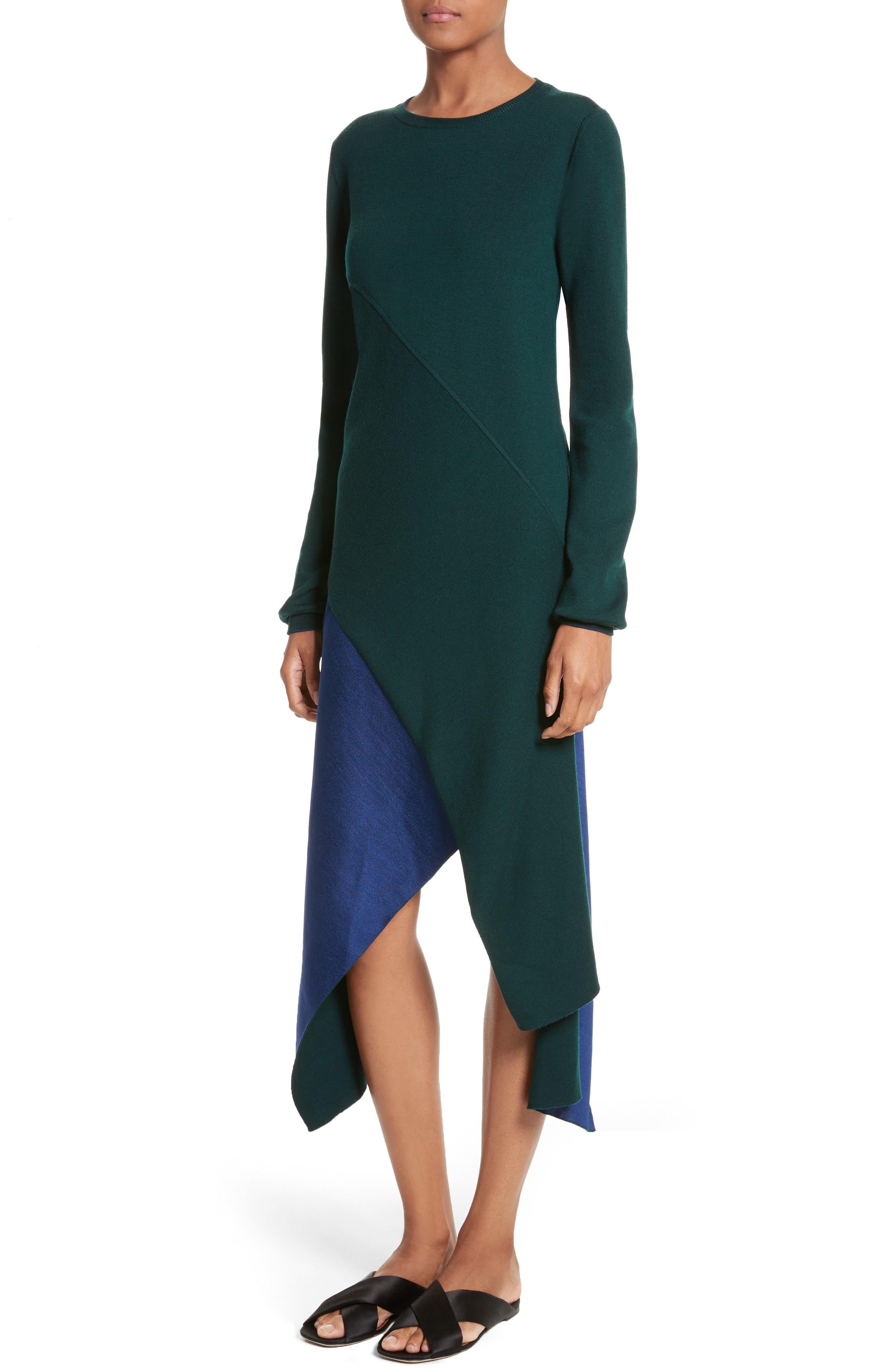 Reversible Knit Asymmetrical Top,                             Alternate thumbnail 2, color,
