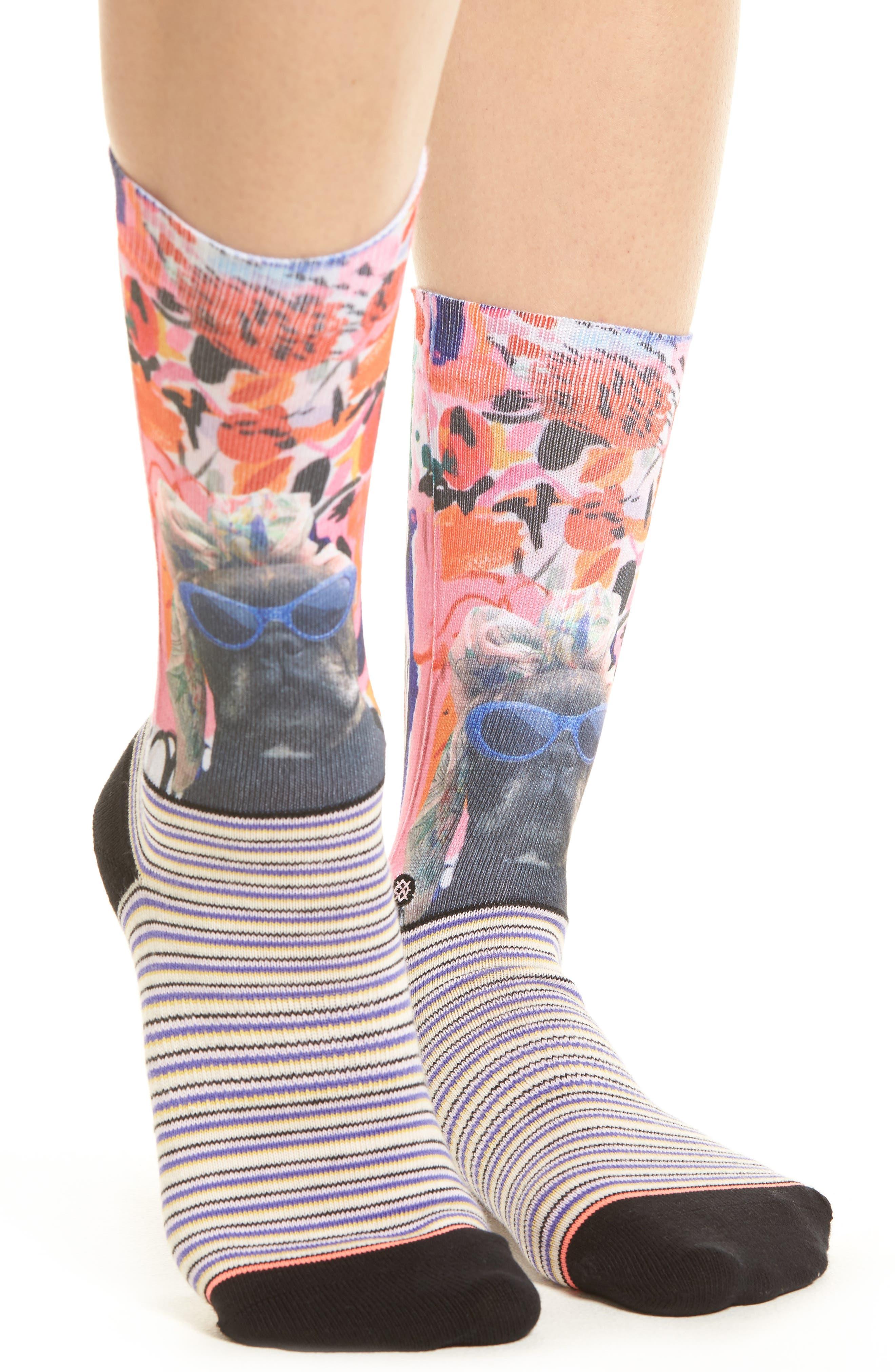 Yes, Darling Crew Socks,                             Alternate thumbnail 2, color,                             650
