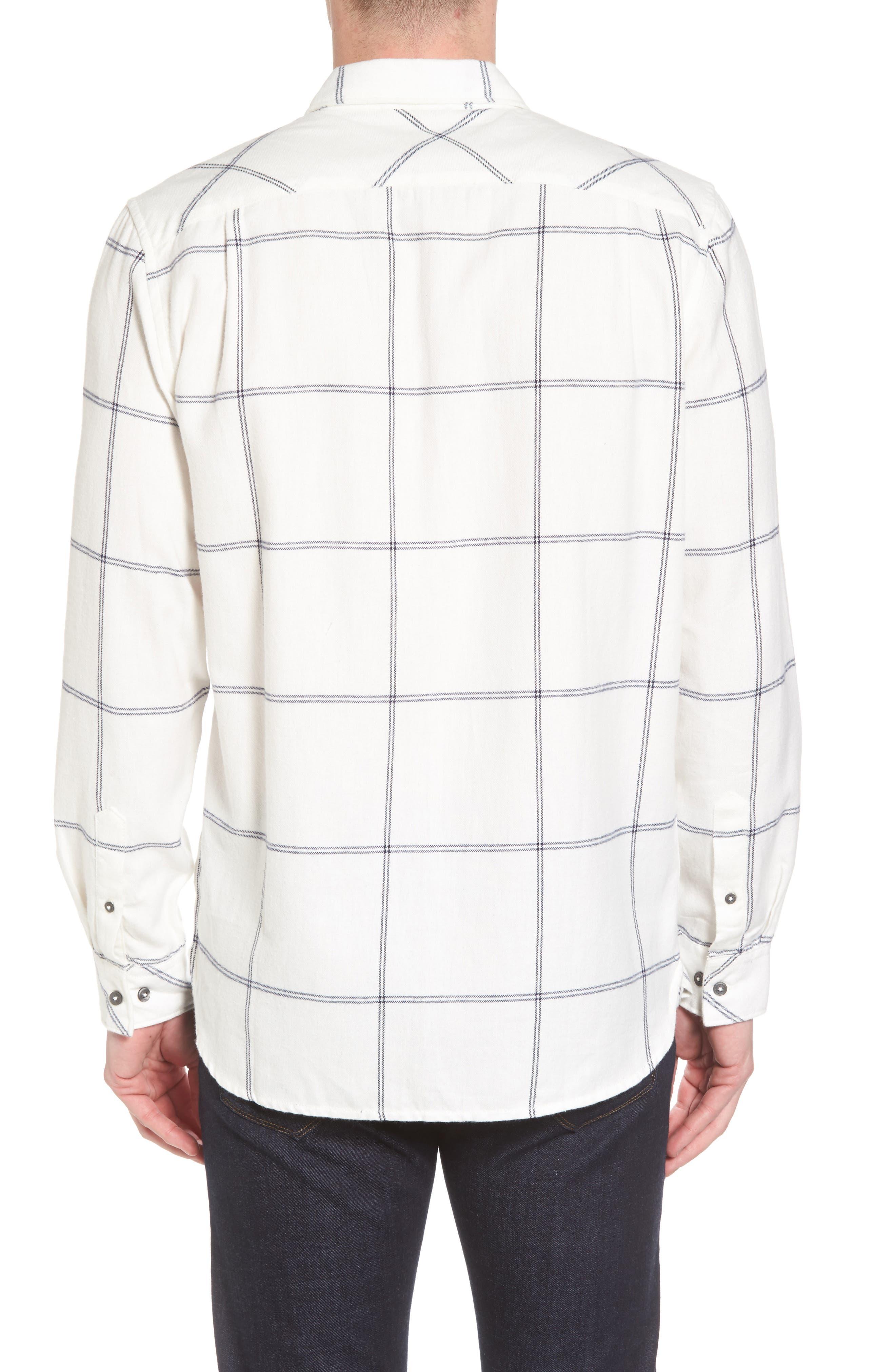Regular Fit Windowpane Flannel Sport Shirt,                             Alternate thumbnail 2, color,                             900