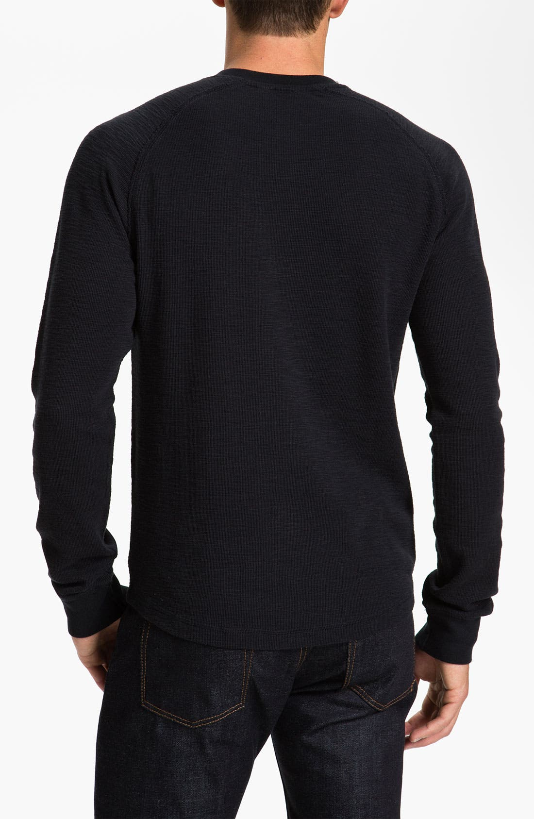 Thermal Cotton Henley,                             Alternate thumbnail 3, color,                             010