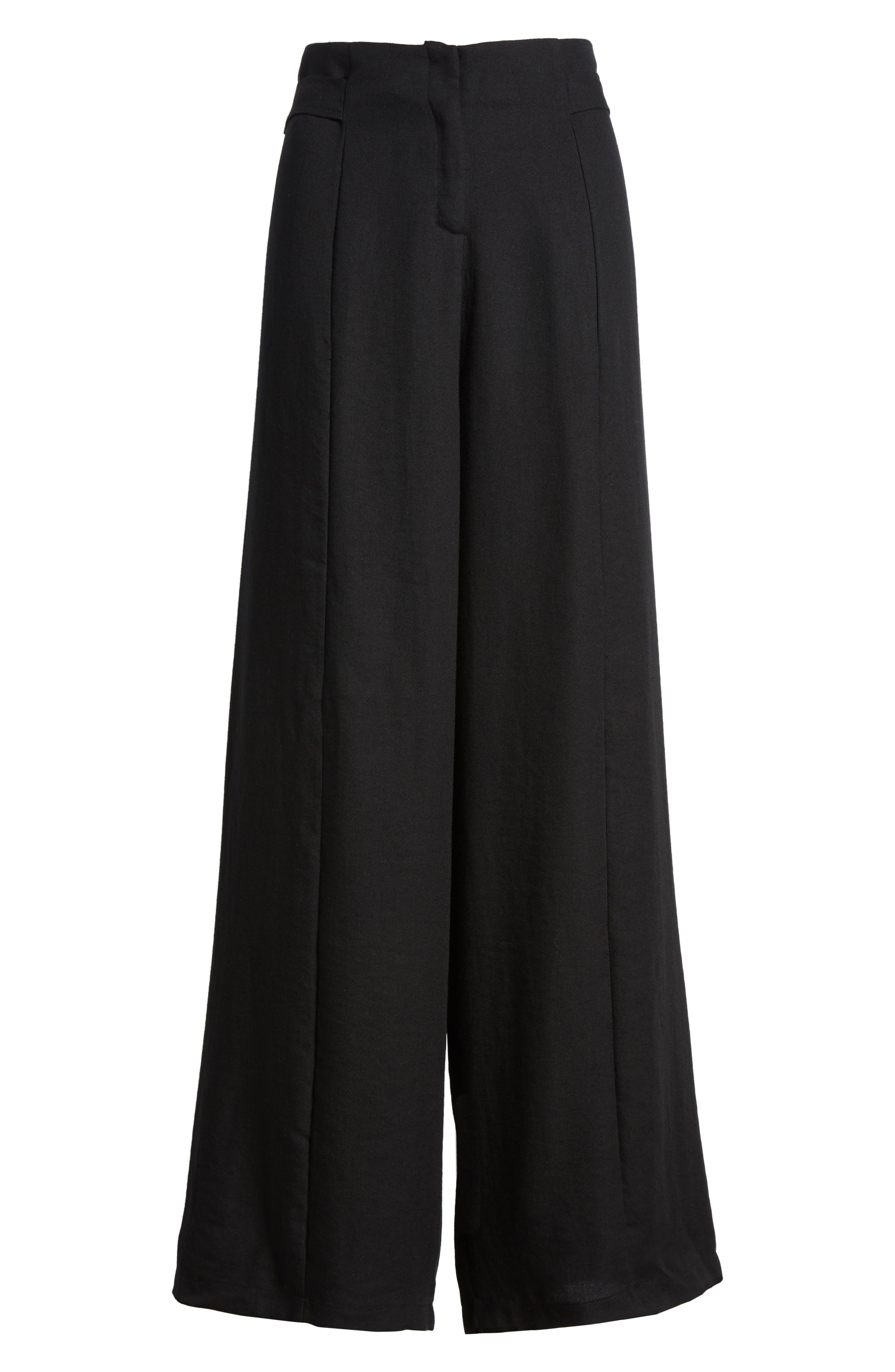 Bishop + Young O-Ring Wide Leg Pants,                             Alternate thumbnail 7, color,                             001