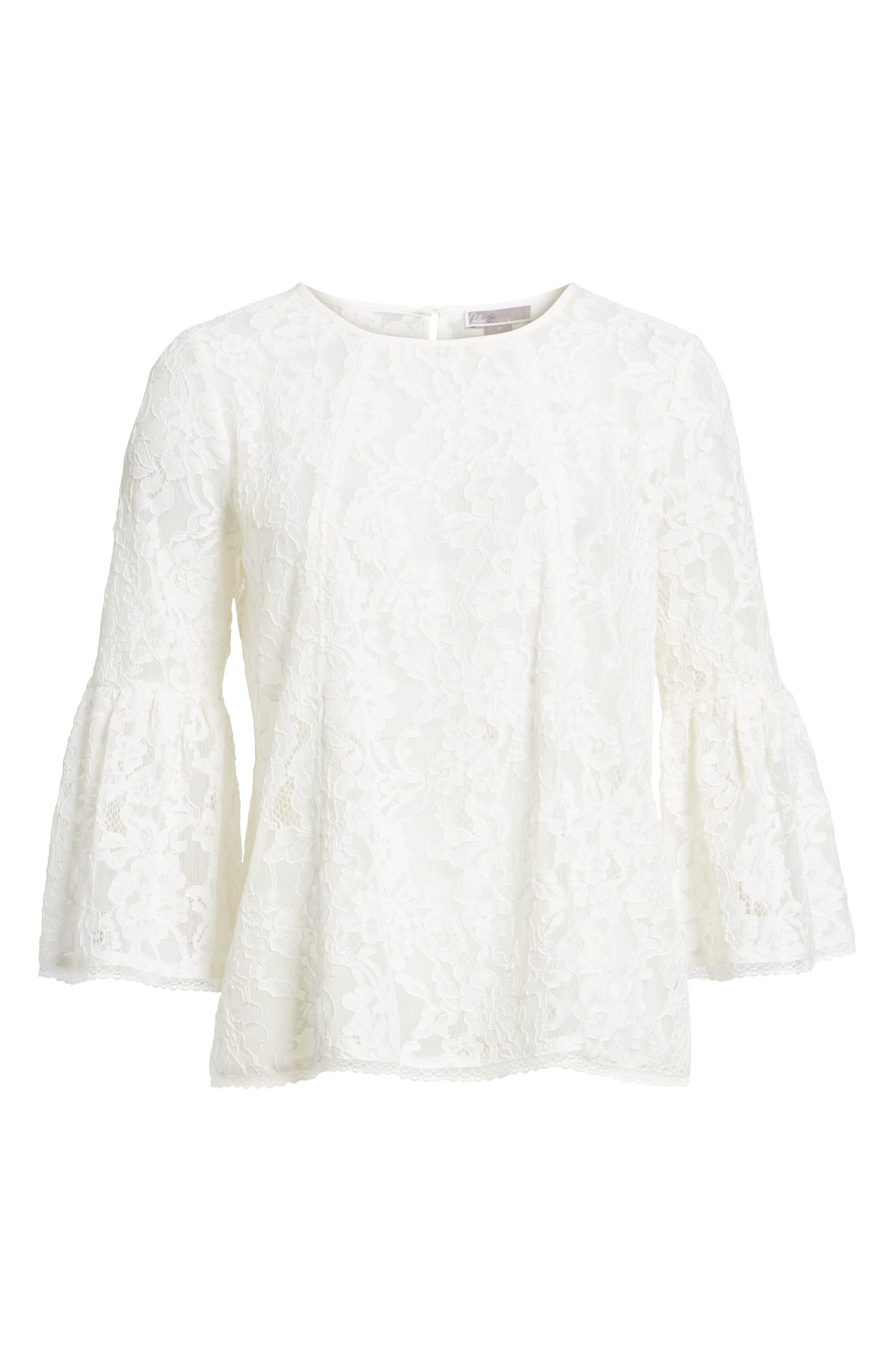Bell Sleeve Lace Top,                             Alternate thumbnail 18, color,