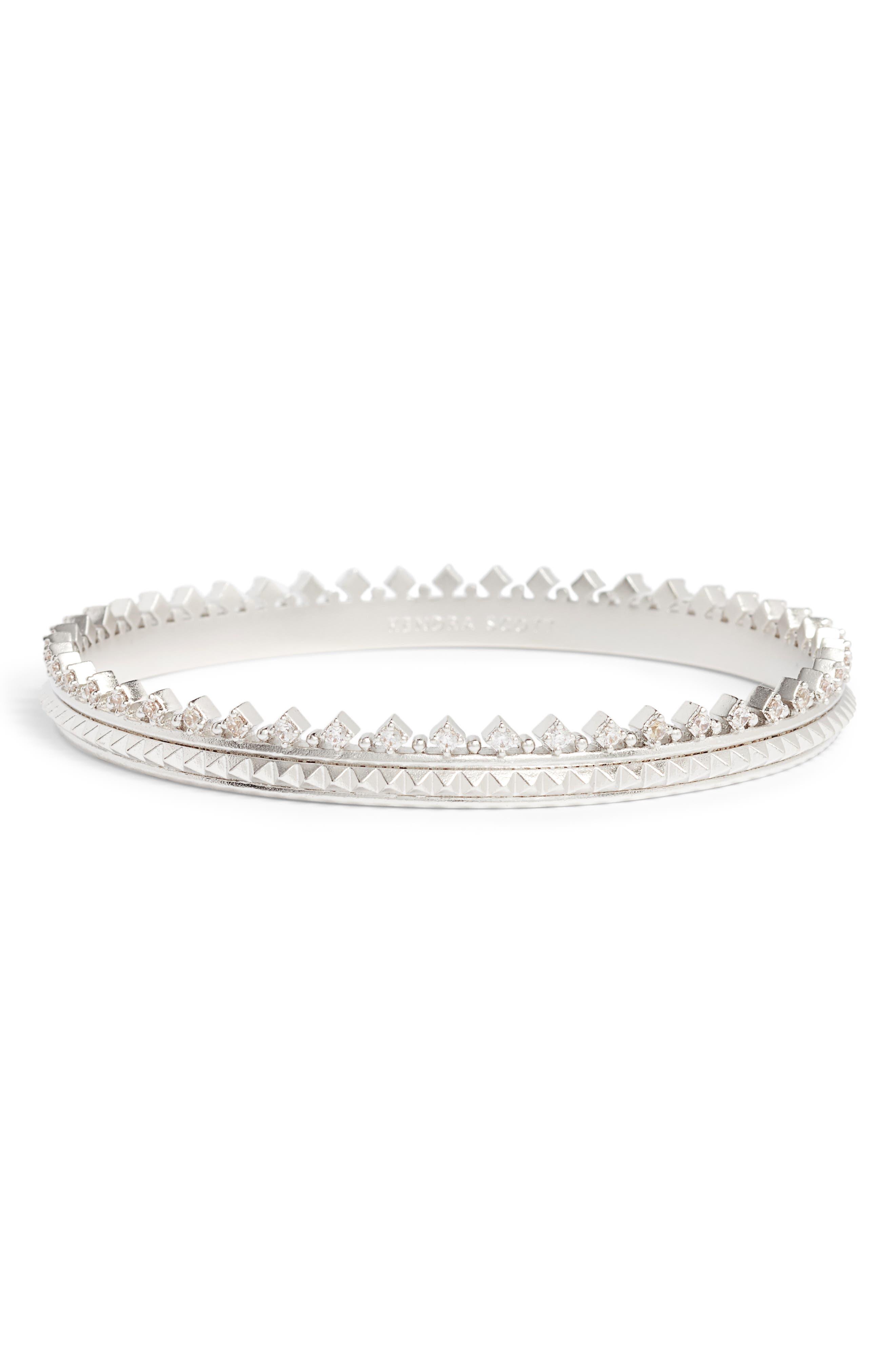 Mary Caroline Crystal Pyramid Cuff Bracelet,                             Main thumbnail 1, color,                             040