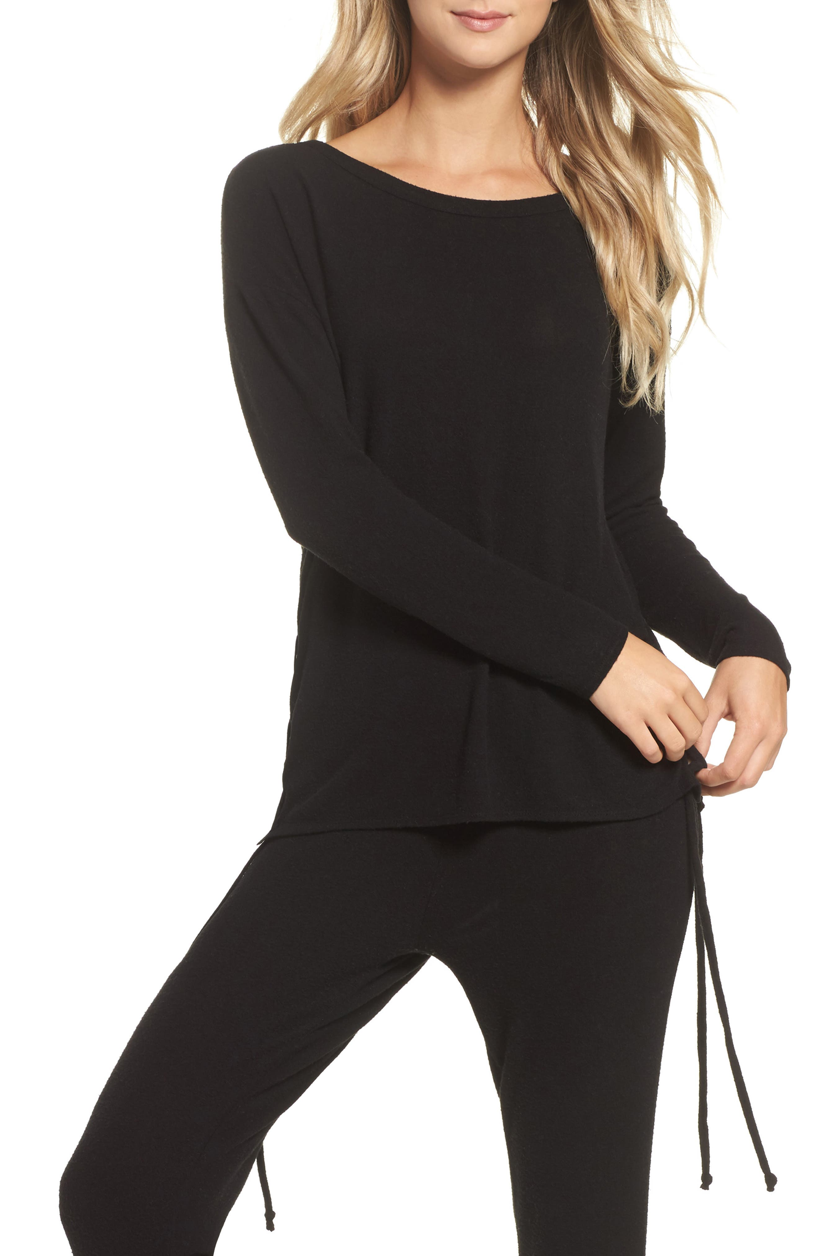 Lace-Up Side Pullover,                             Main thumbnail 1, color,                             003